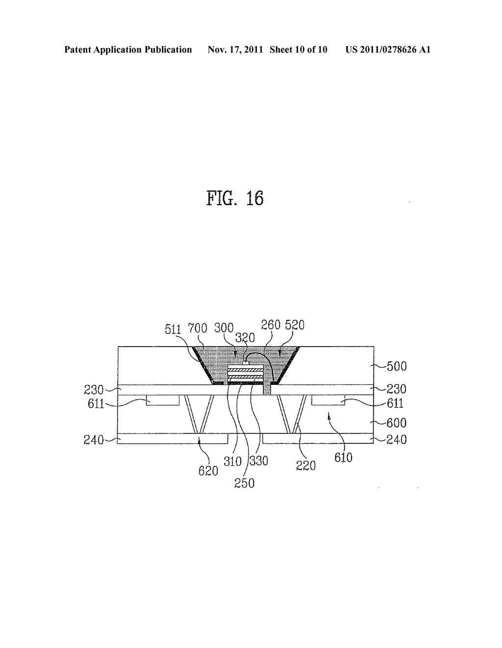 LIGHT EMITTING DEVICE PACKAGE AND METHOD FOR MANUFACTURING THE SAME - diagram, schematic, and image 11