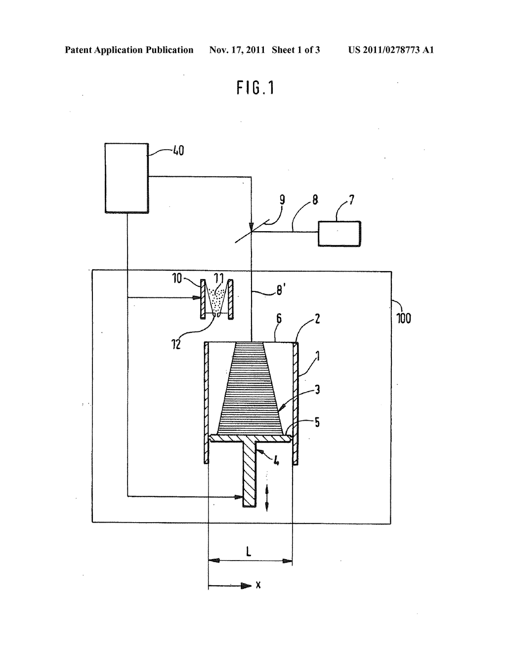 Device And Method Of Generatively Manufacturing A Three-Dimensional Object     With Working Field Limitation - diagram, schematic, and image 02