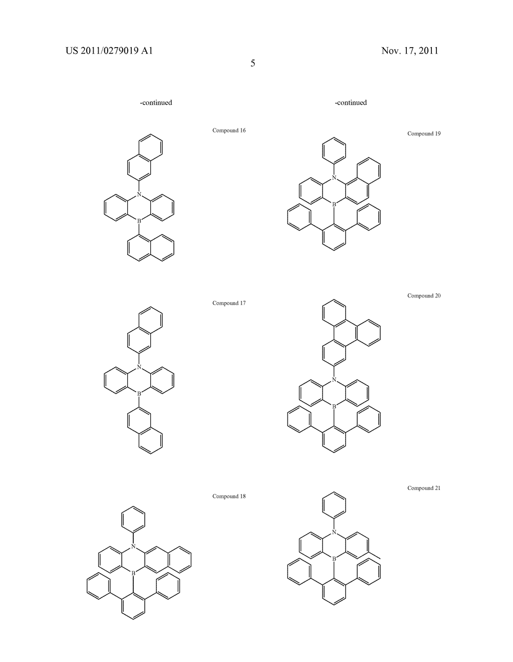 AZABORININE COMPOUNDS AS HOST MATERIALS AND DOPANTS FOR PHOLEDS - diagram, schematic, and image 12