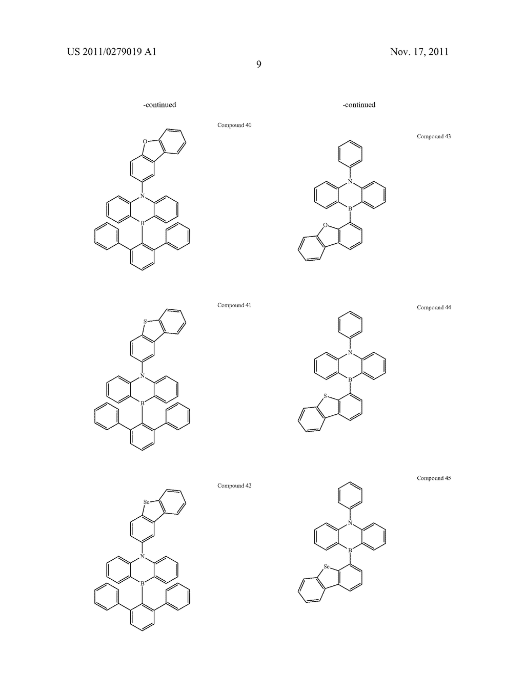 AZABORININE COMPOUNDS AS HOST MATERIALS AND DOPANTS FOR PHOLEDS - diagram, schematic, and image 16