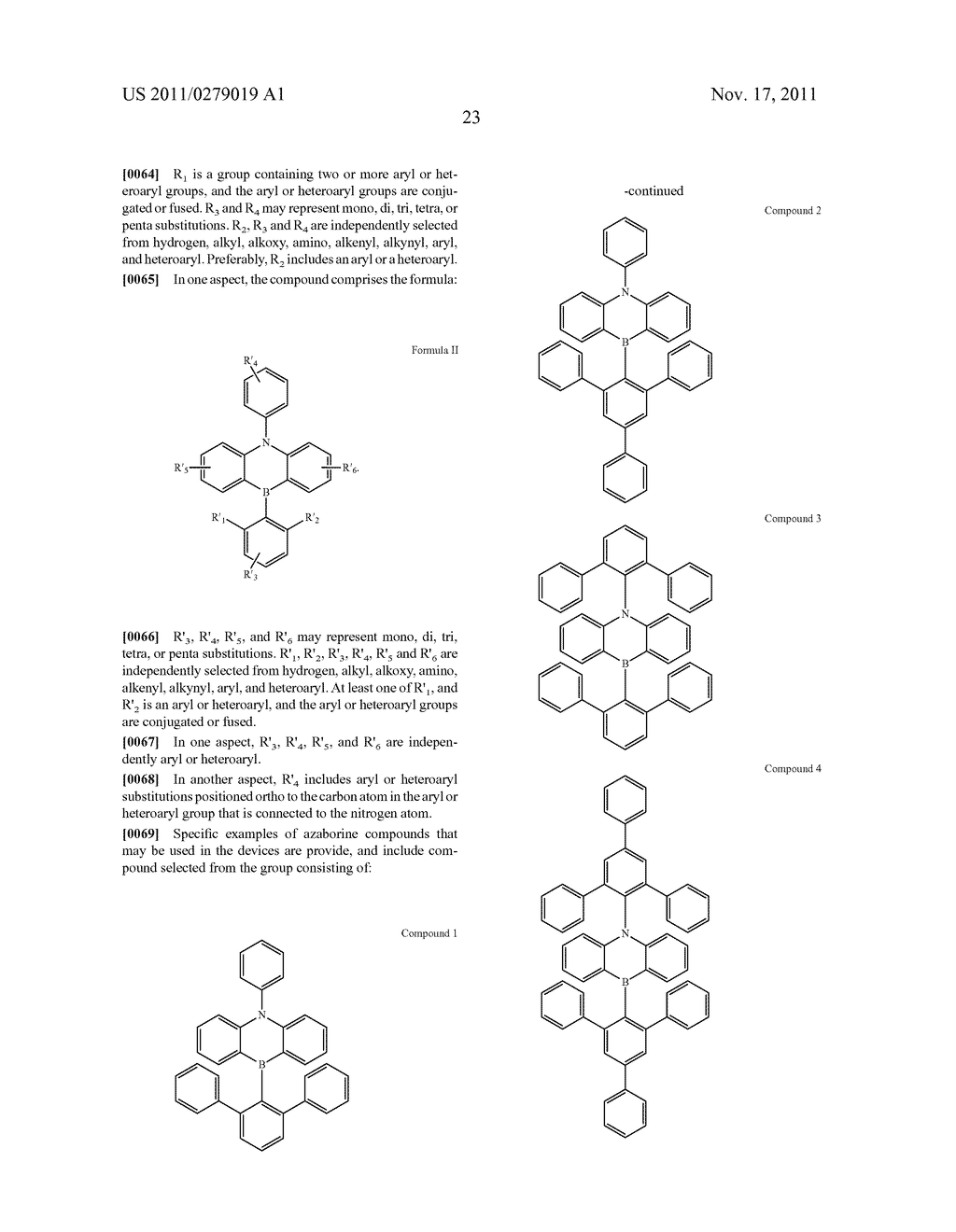 AZABORININE COMPOUNDS AS HOST MATERIALS AND DOPANTS FOR PHOLEDS - diagram, schematic, and image 30