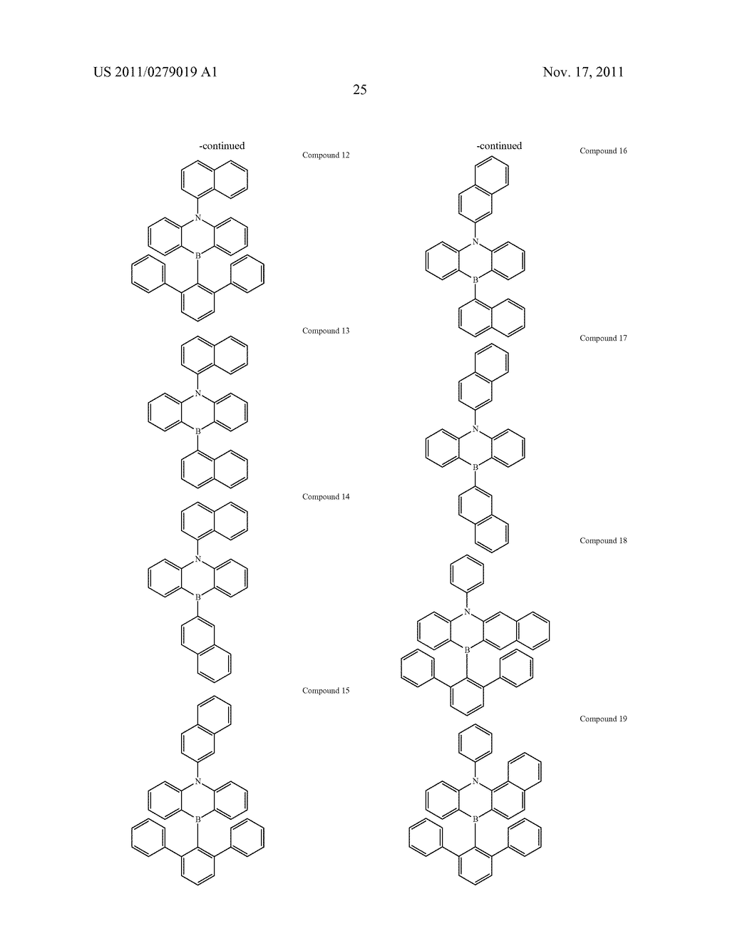AZABORININE COMPOUNDS AS HOST MATERIALS AND DOPANTS FOR PHOLEDS - diagram, schematic, and image 32