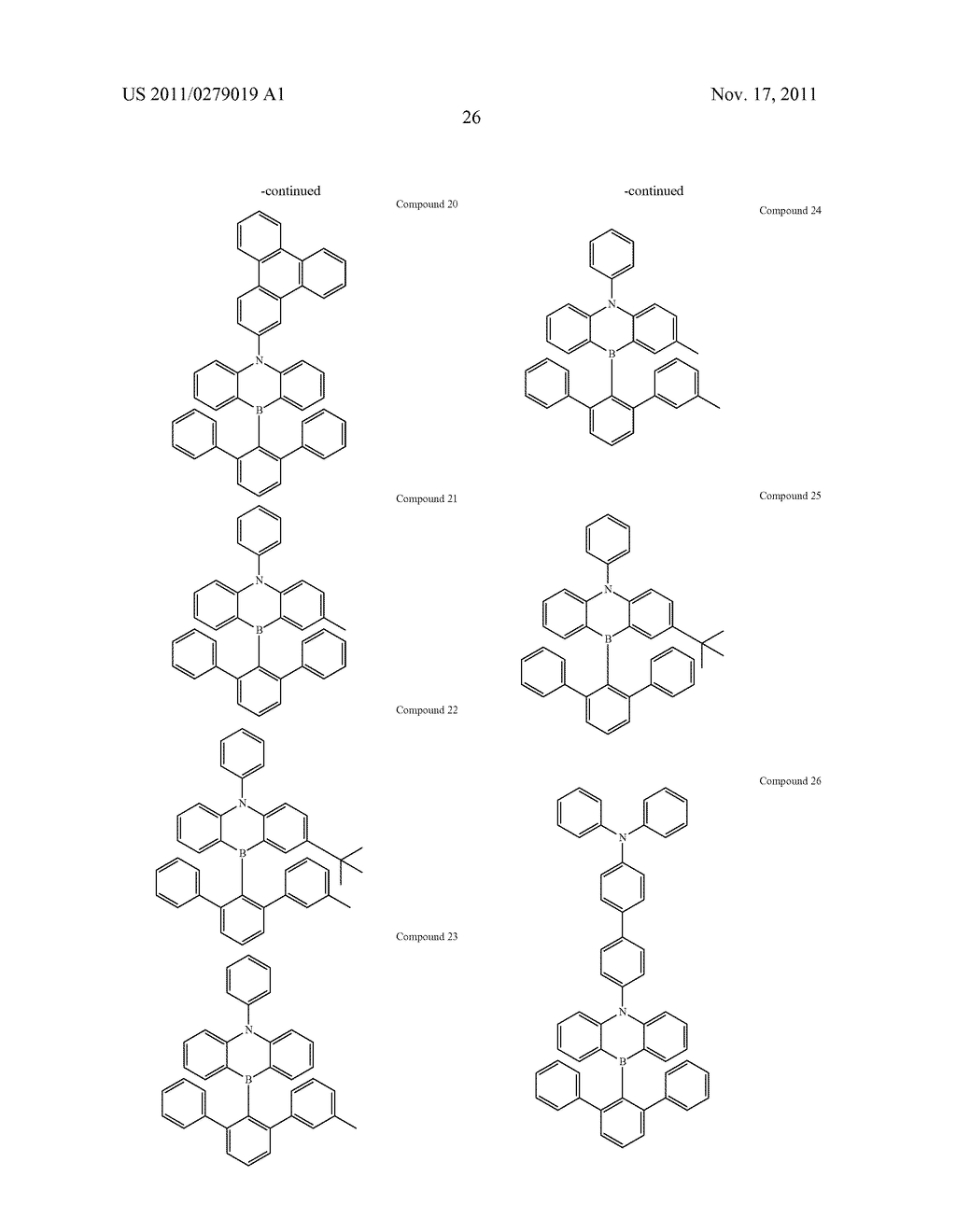 AZABORININE COMPOUNDS AS HOST MATERIALS AND DOPANTS FOR PHOLEDS - diagram, schematic, and image 33