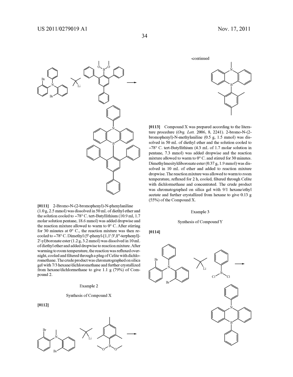 AZABORININE COMPOUNDS AS HOST MATERIALS AND DOPANTS FOR PHOLEDS - diagram, schematic, and image 41