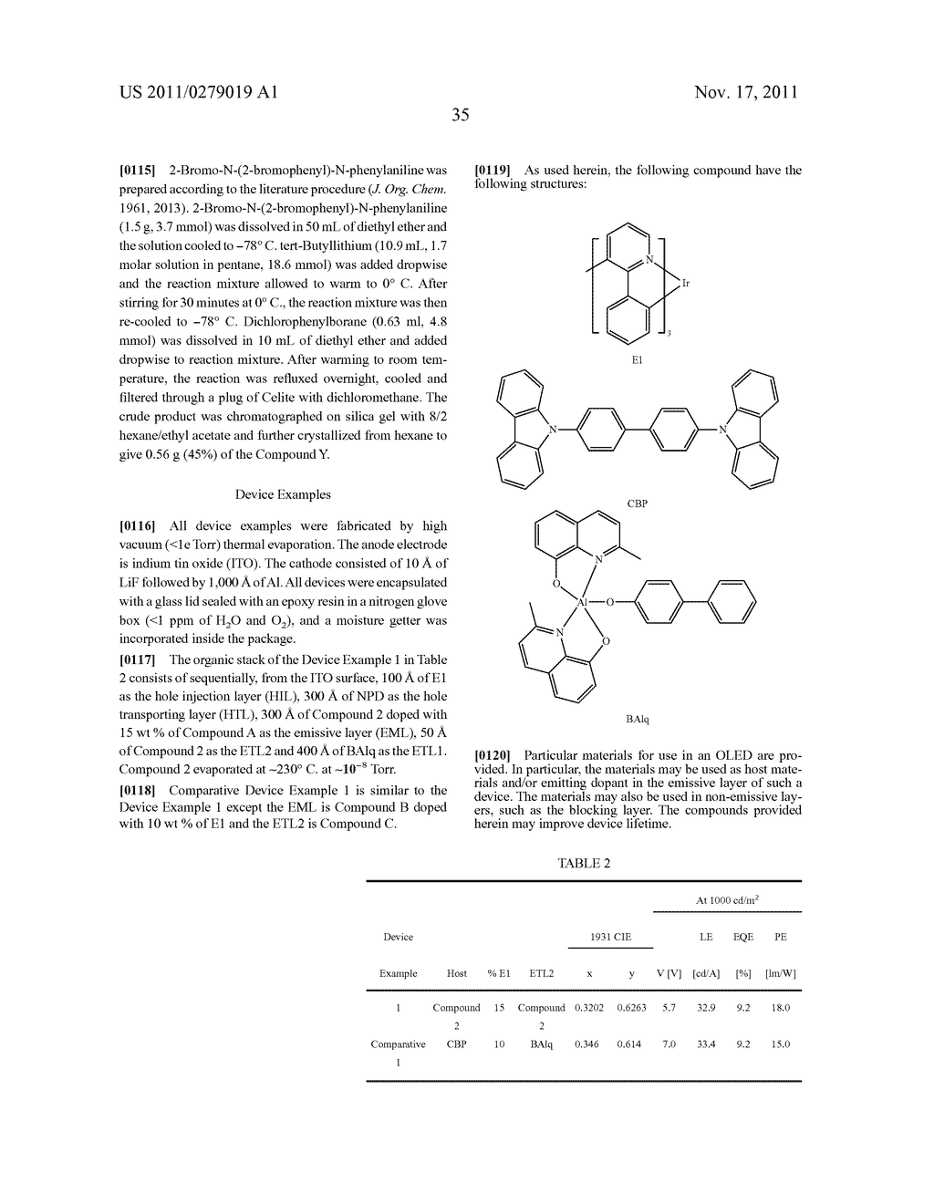 AZABORININE COMPOUNDS AS HOST MATERIALS AND DOPANTS FOR PHOLEDS - diagram, schematic, and image 42
