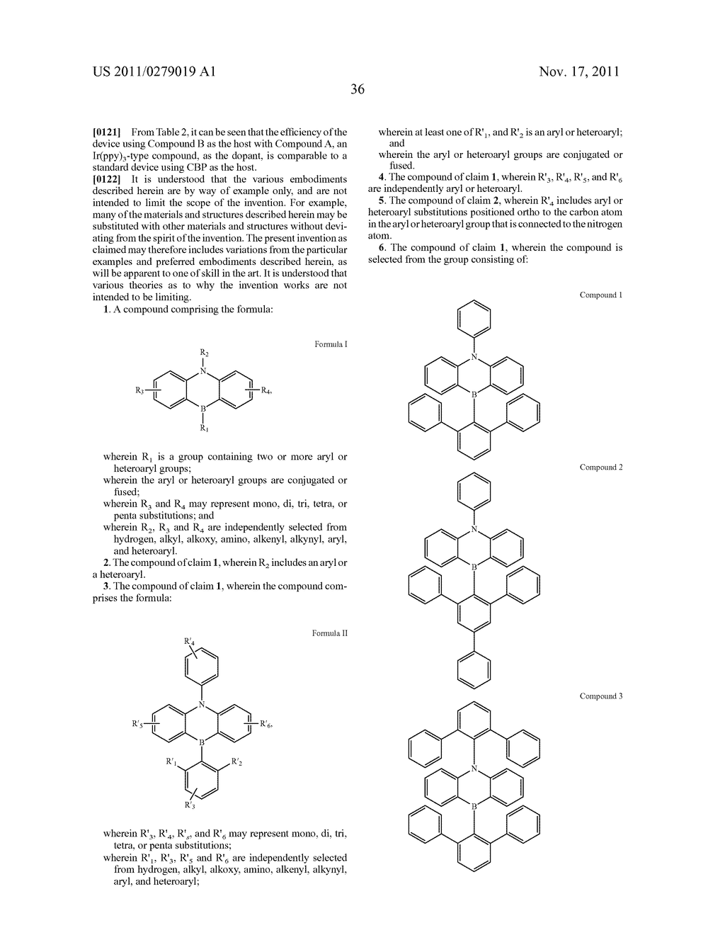 AZABORININE COMPOUNDS AS HOST MATERIALS AND DOPANTS FOR PHOLEDS - diagram, schematic, and image 43