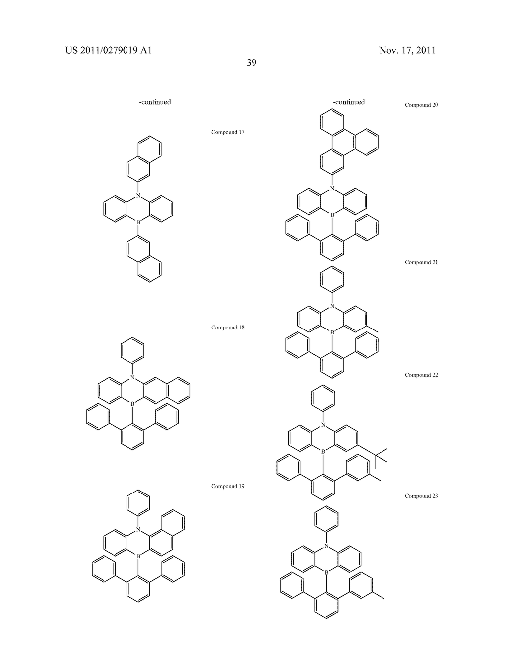 AZABORININE COMPOUNDS AS HOST MATERIALS AND DOPANTS FOR PHOLEDS - diagram, schematic, and image 46