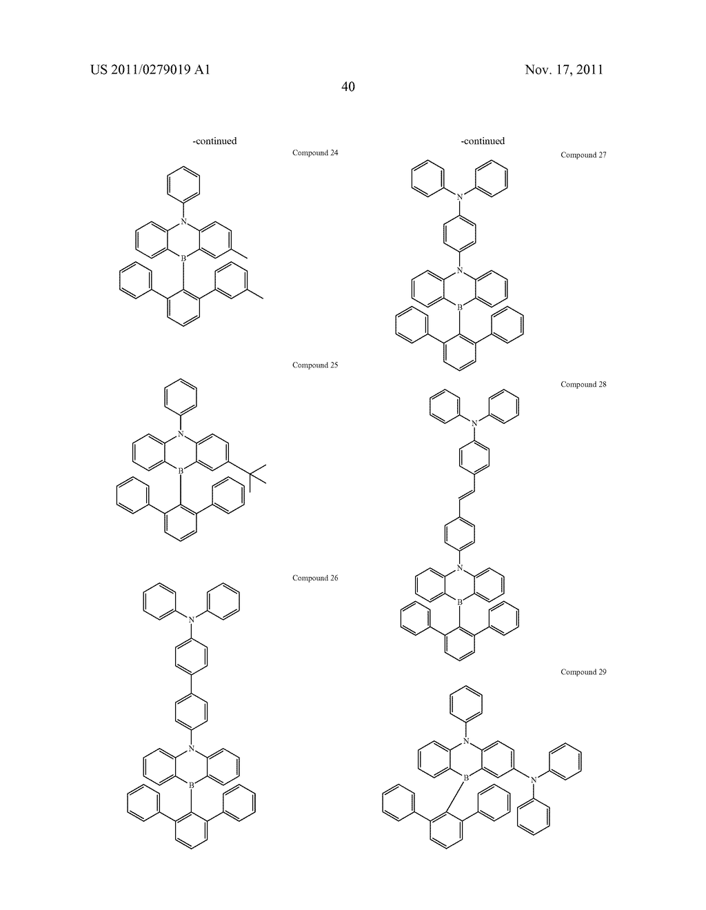 AZABORININE COMPOUNDS AS HOST MATERIALS AND DOPANTS FOR PHOLEDS - diagram, schematic, and image 47