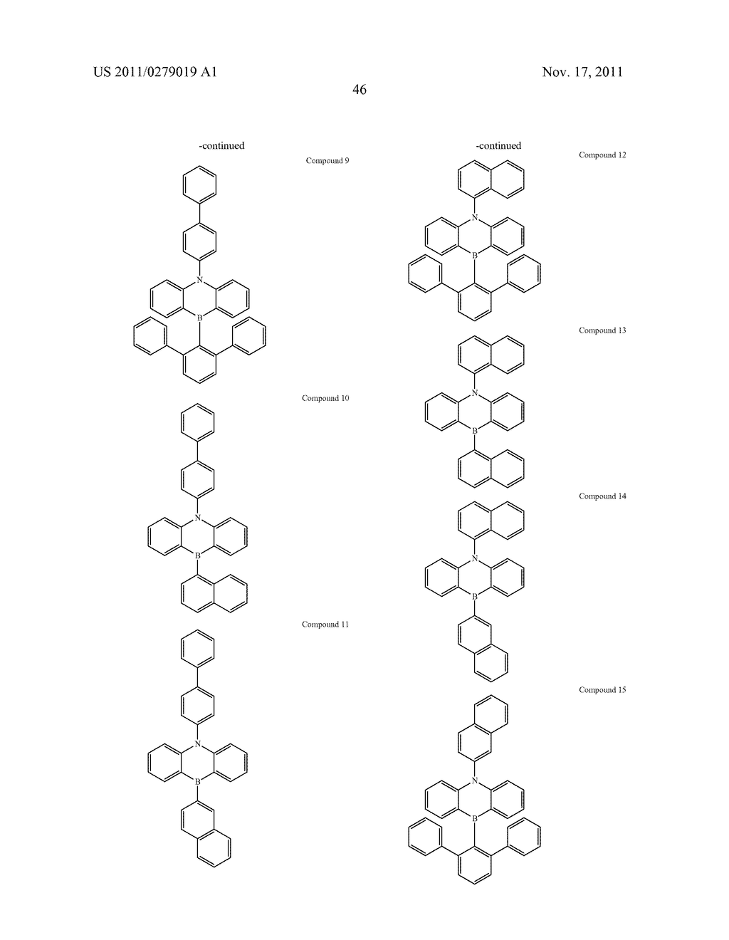AZABORININE COMPOUNDS AS HOST MATERIALS AND DOPANTS FOR PHOLEDS - diagram, schematic, and image 53