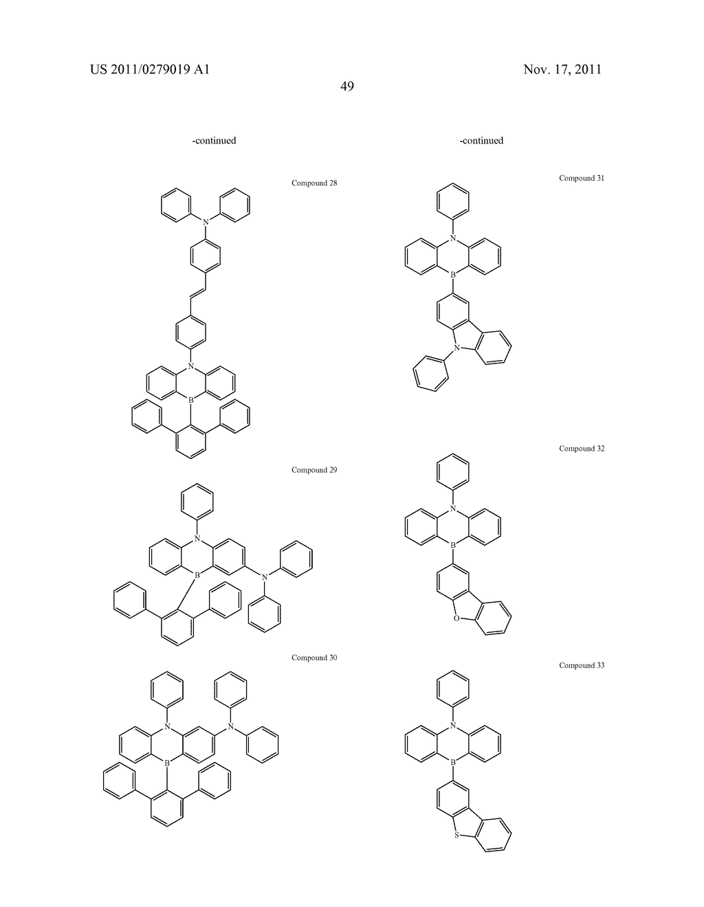 AZABORININE COMPOUNDS AS HOST MATERIALS AND DOPANTS FOR PHOLEDS - diagram, schematic, and image 56