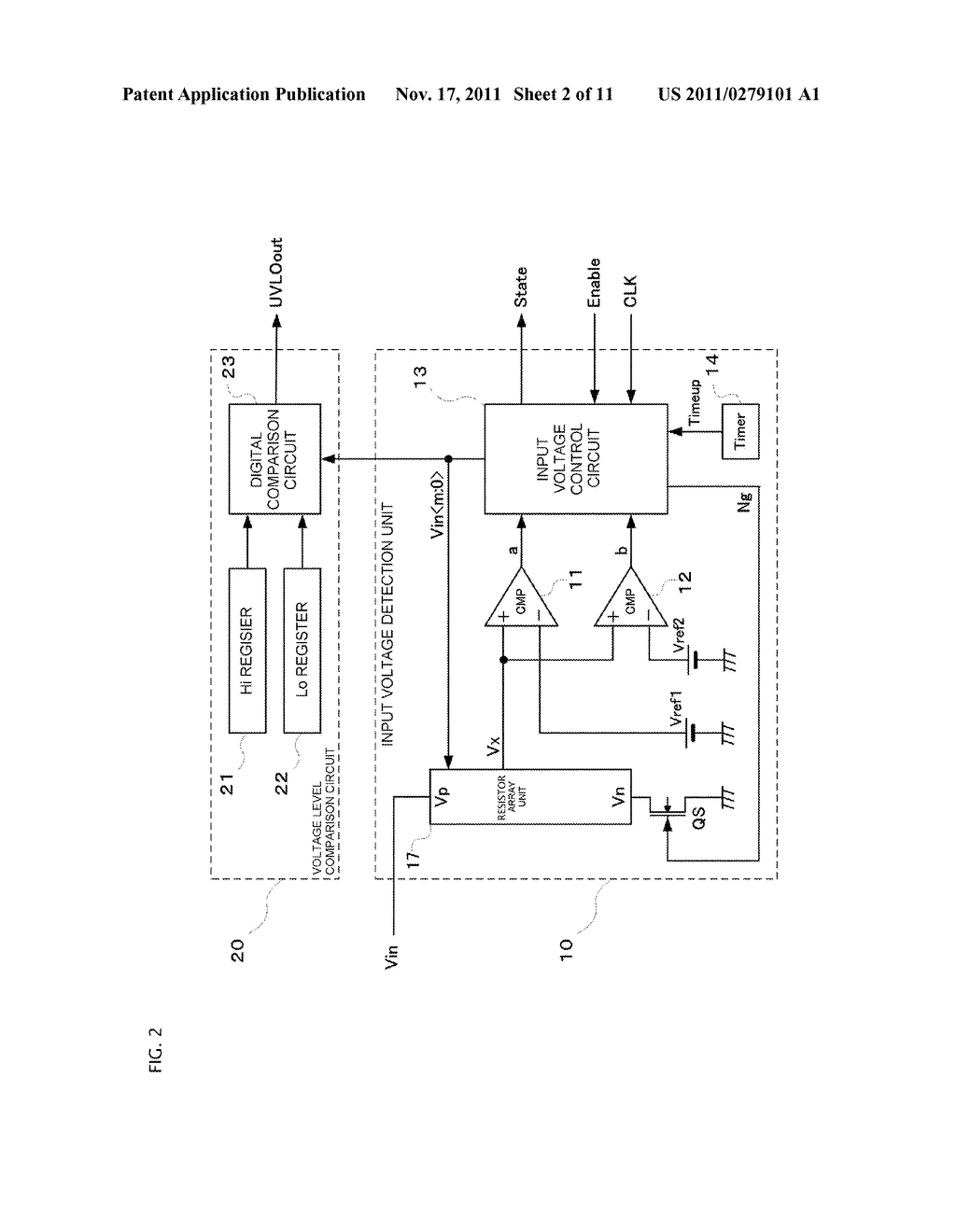 SWITCHING POWER SUPPLY SYSTEM PROVIDED WITH UNDER VOLTAGE LOCK OUT CIRCUIT - diagram, schematic, and image 03