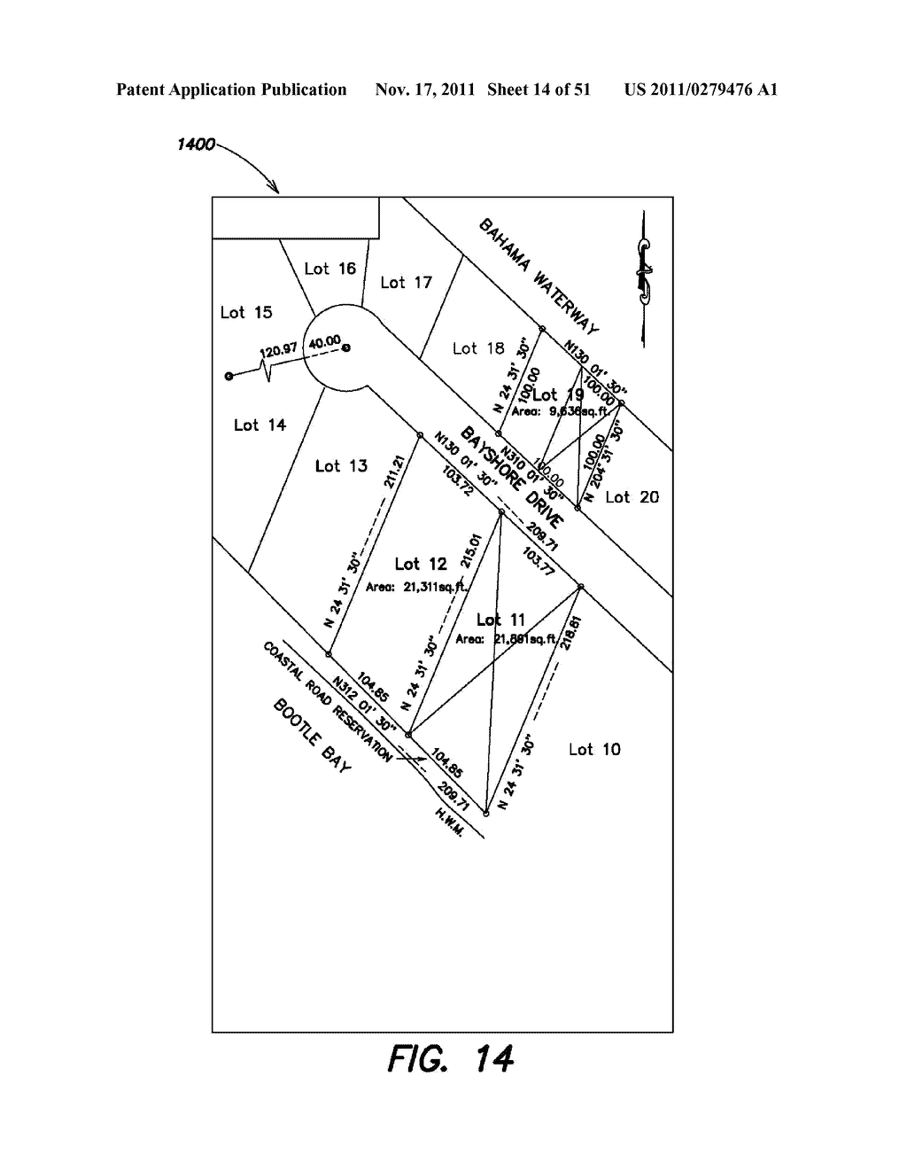 METHODS, APPARATUS AND SYSTEMS FOR GENERATING IMAGE-PROCESSED SEARCHABLE     ELECTRONIC RECORDS OF UNDERGROUND FACILITY LOCATE AND/OR MARKING     OPERATIONS - diagram, schematic, and image 15