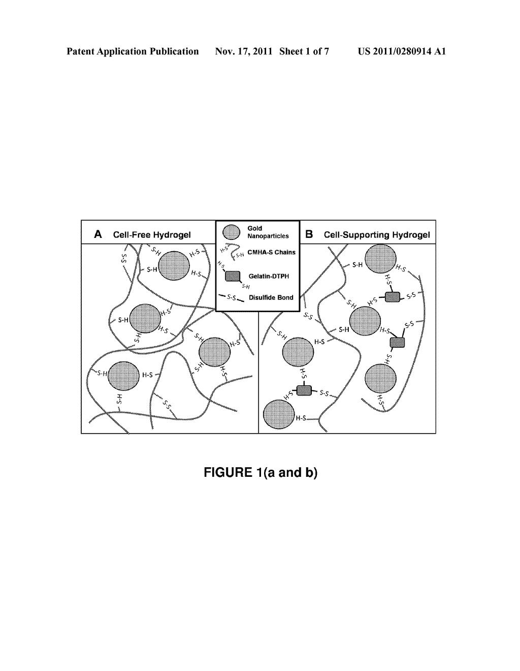 HYDROGELS CROSSLINKED WITH GOLD NANOPARTICLES AND METHODS OF MAKING AND     USING THEREOF - diagram, schematic, and image 02