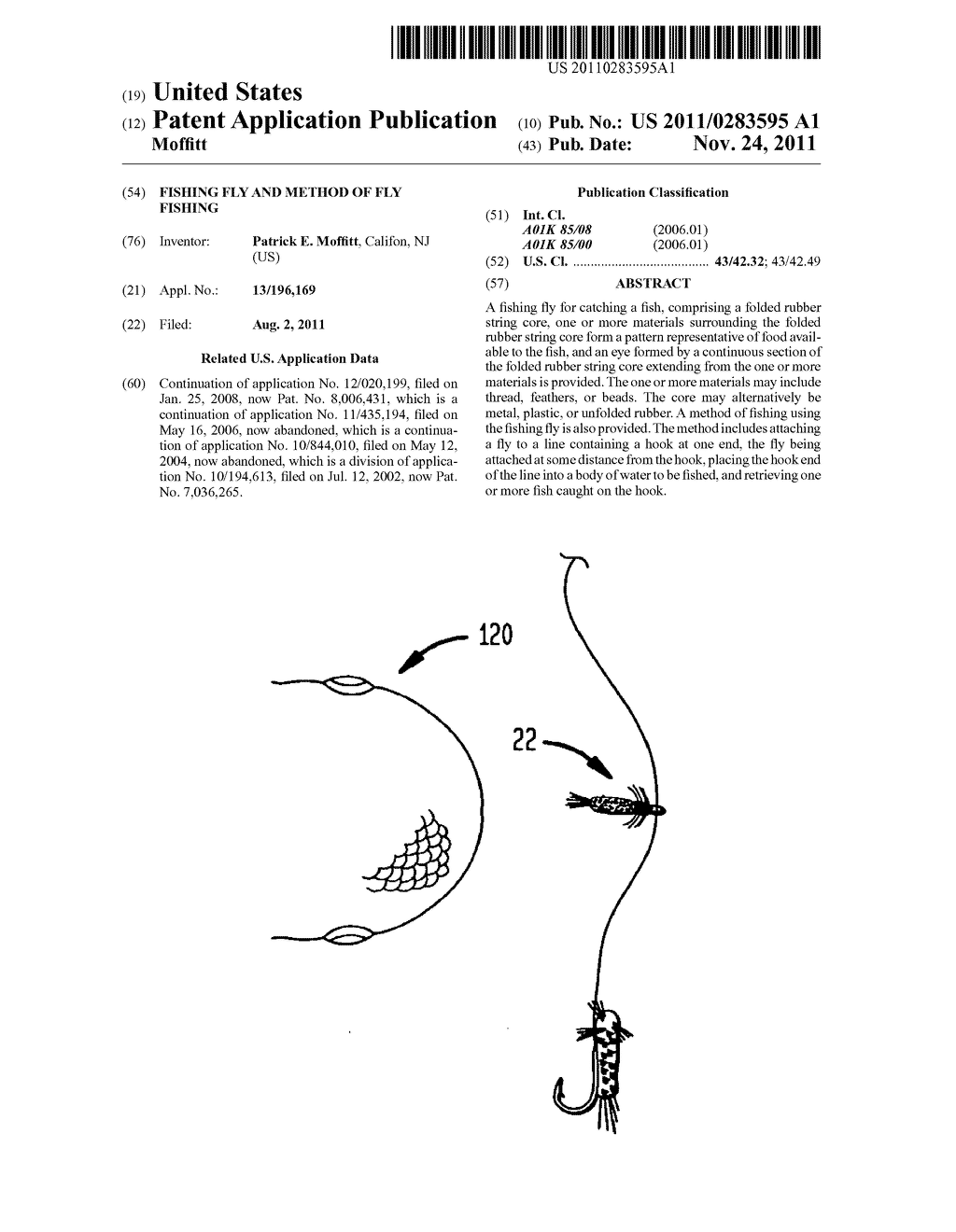 FISHING FLY  AND METHOD OF FLY FISHING - diagram, schematic, and image 01
