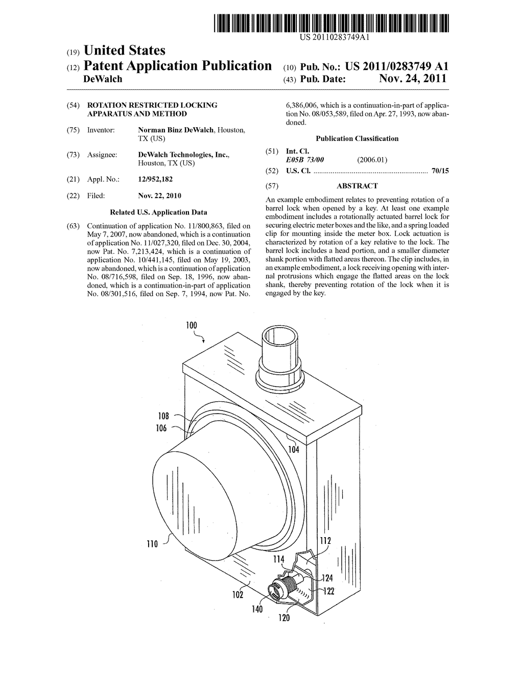 Rotation Restricted Locking Apparatus and Method - diagram, schematic, and image 01