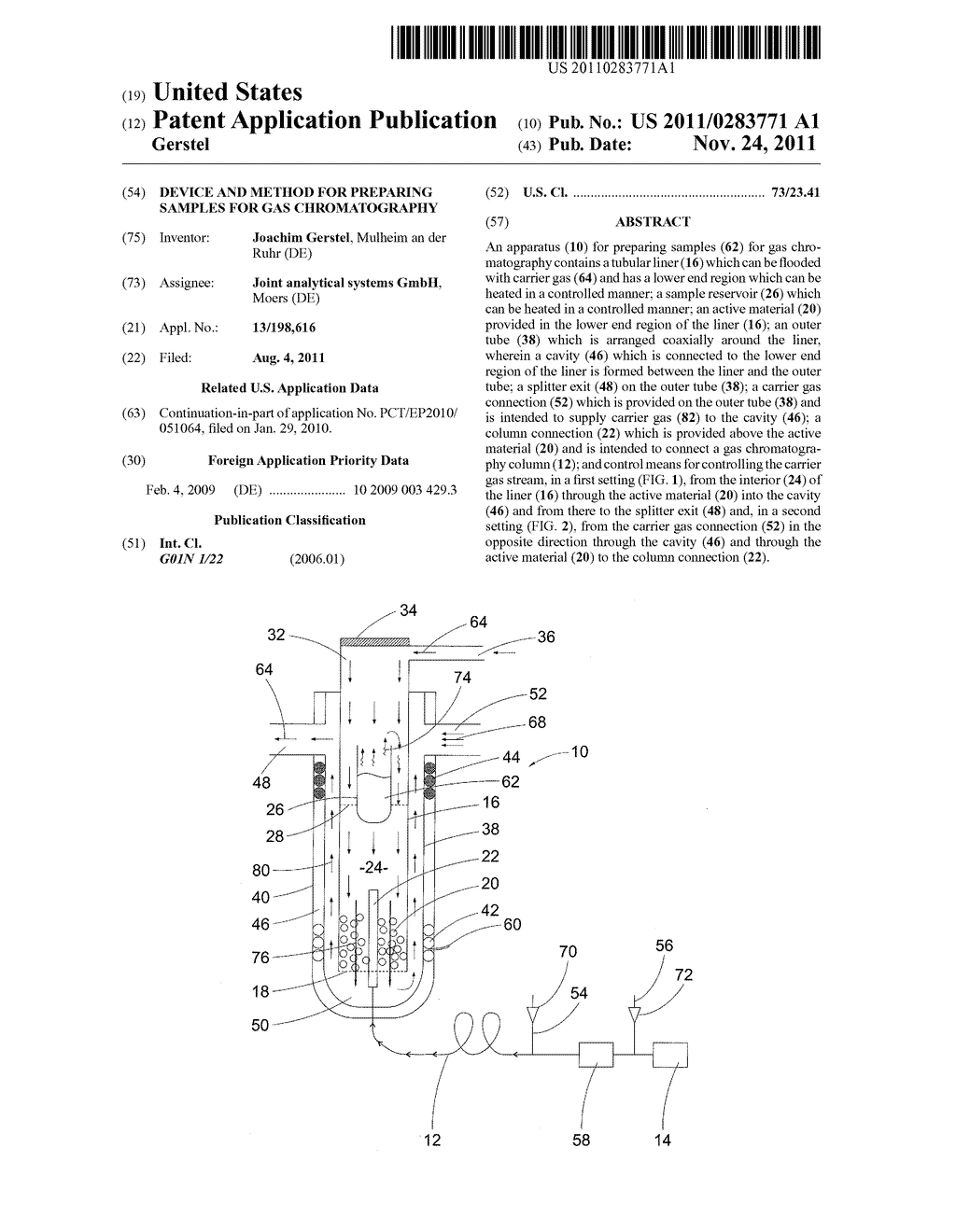 Device and Method for Preparing Samples for Gas Chromatography - diagram, schematic, and image 01