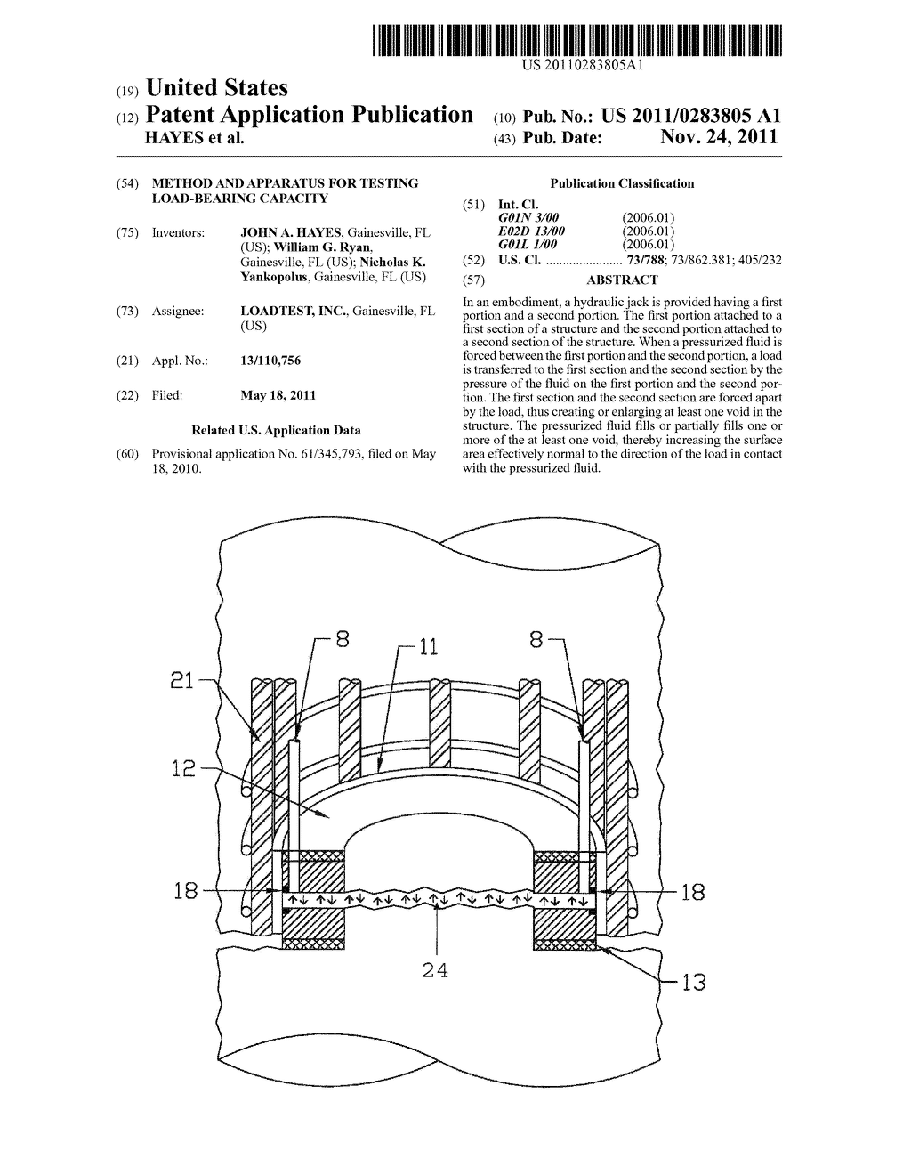 METHOD AND APPARATUS FOR TESTING LOAD-BEARING CAPACITY - diagram, schematic, and image 01