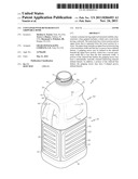 CONTAINER WITH BEND RESISTANT GRIPPABLE DOME diagram and image