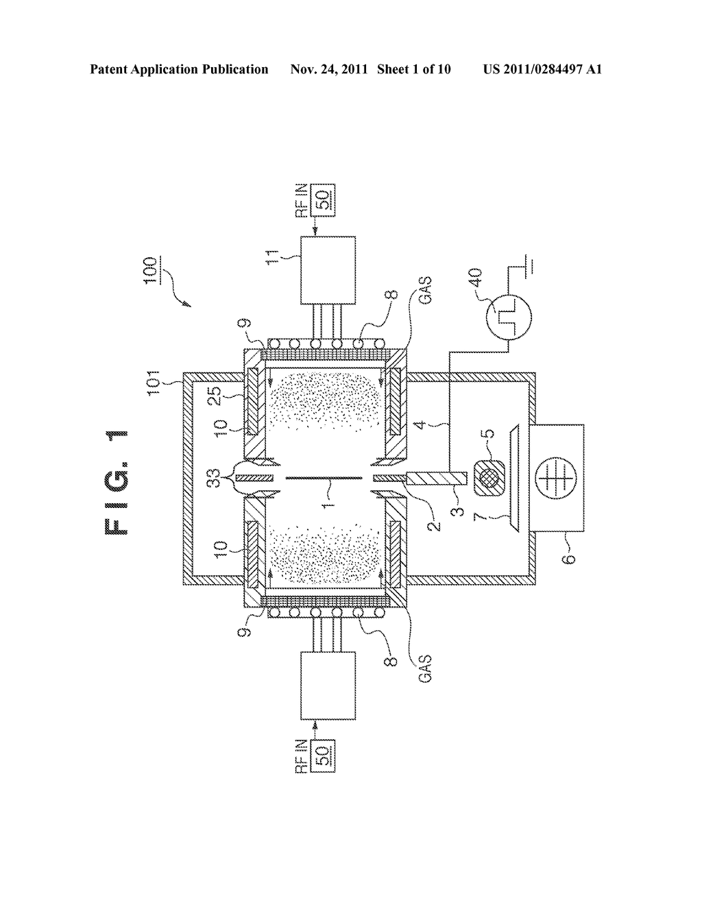 PLASMA PROCESSING APPARATUS AND METHOD OF MANUFACTURING MAGNETIC RECORDING     MEDIUM - diagram, schematic, and image 02