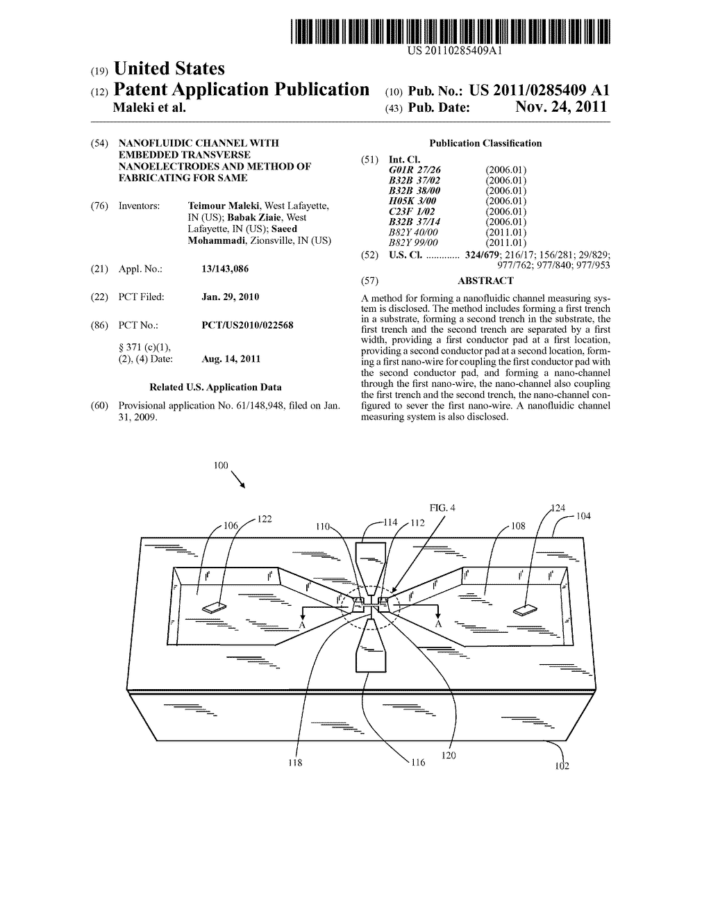 Nanofluidic channel with embedded transverse nanoelectrodes and method of     fabricating for same - diagram, schematic, and image 01