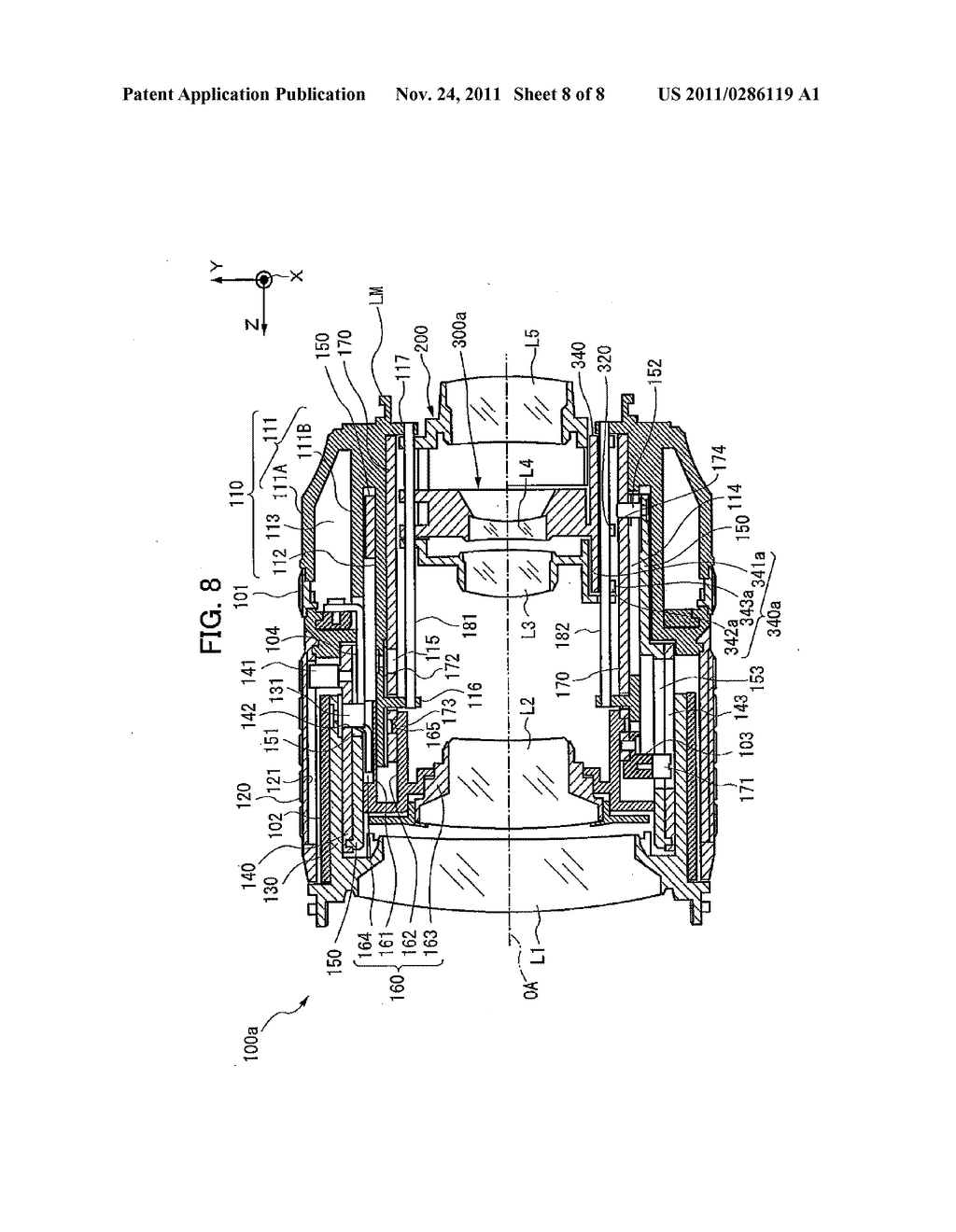 LENS BARREL, IMAGING DEVICE AND MANUFACTURING METHOD THEREOF - diagram, schematic, and image 09