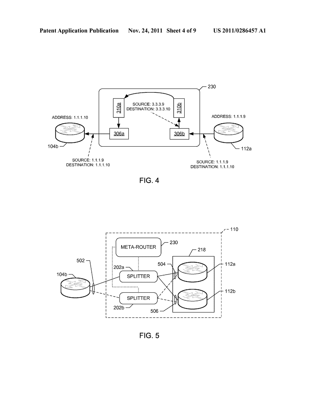 METHODS AND APPARATUS TO ROUTE CONTROL PACKETS BASED ON ADDRESS     PARTITIONING - diagram, schematic, and image 05