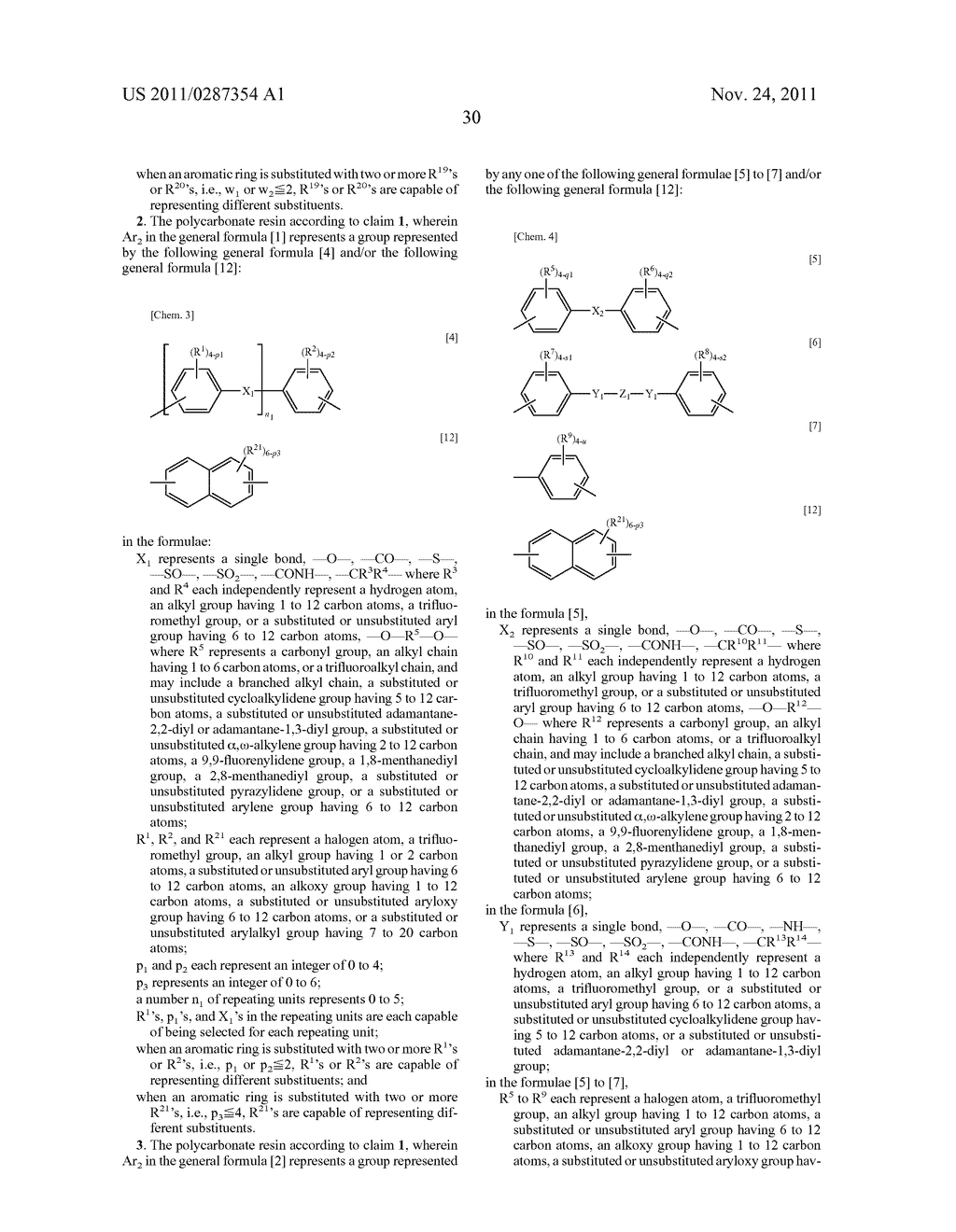 POLYCARBONATE RESIN, COATING LIQUID CONTAINING SAME, AND     ELECTROPHOTOGRAPHIC PHOTOSENSITIVE BODY - diagram, schematic, and image 31
