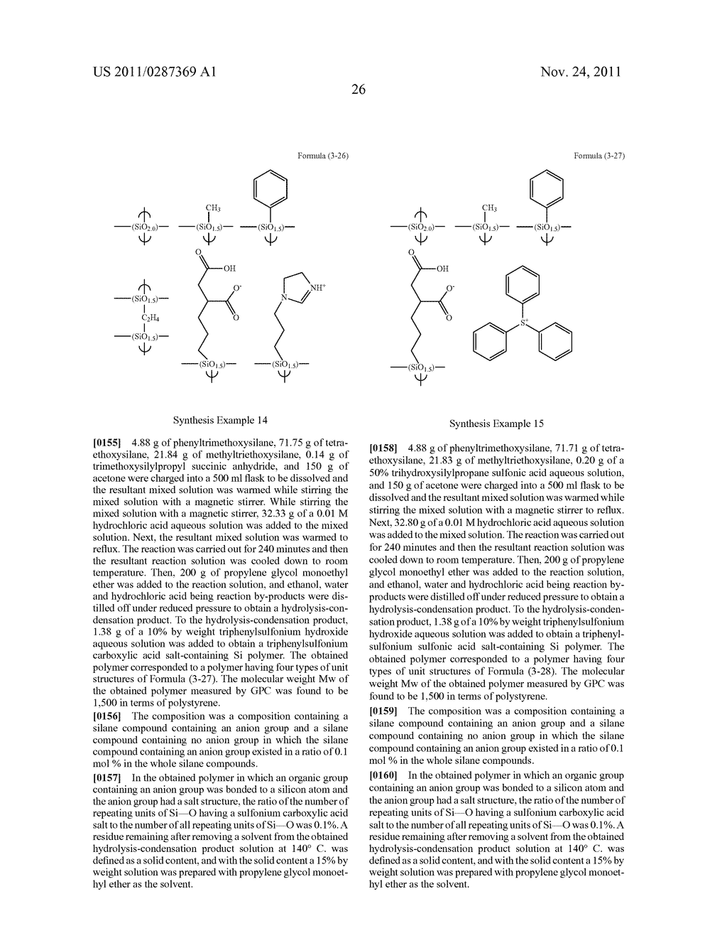 RESIST UNDERLAYER FILM FORMING COMPOSITION CONTAINING SILICON HAVING ANION     GROUP - diagram, schematic, and image 27