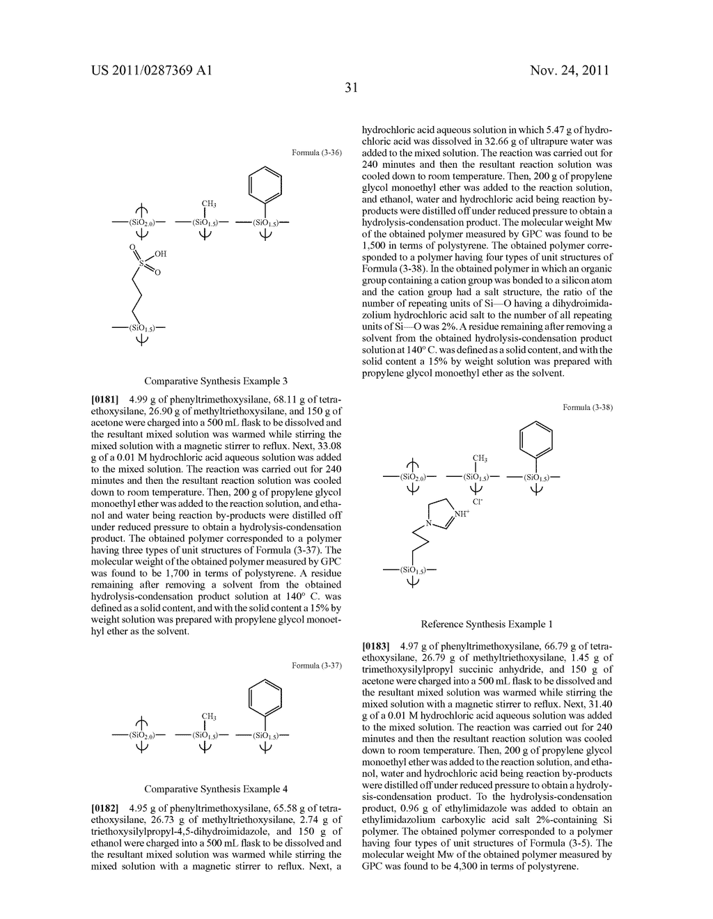 RESIST UNDERLAYER FILM FORMING COMPOSITION CONTAINING SILICON HAVING ANION     GROUP - diagram, schematic, and image 32