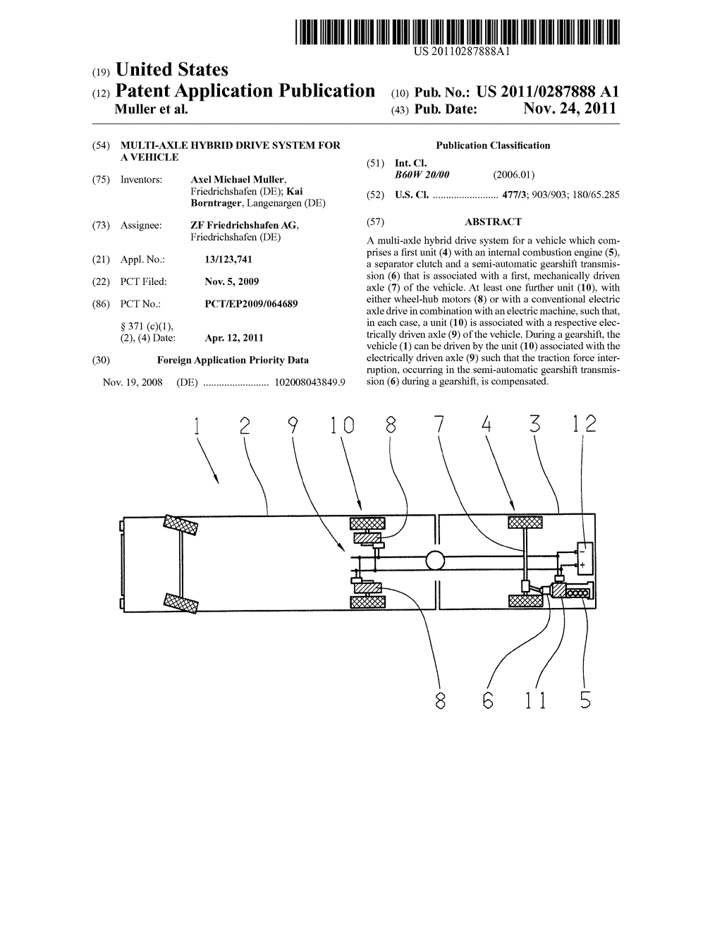 MULTI-AXLE HYBRID DRIVE SYSTEM FOR A VEHICLE - diagram, schematic, and  image 01