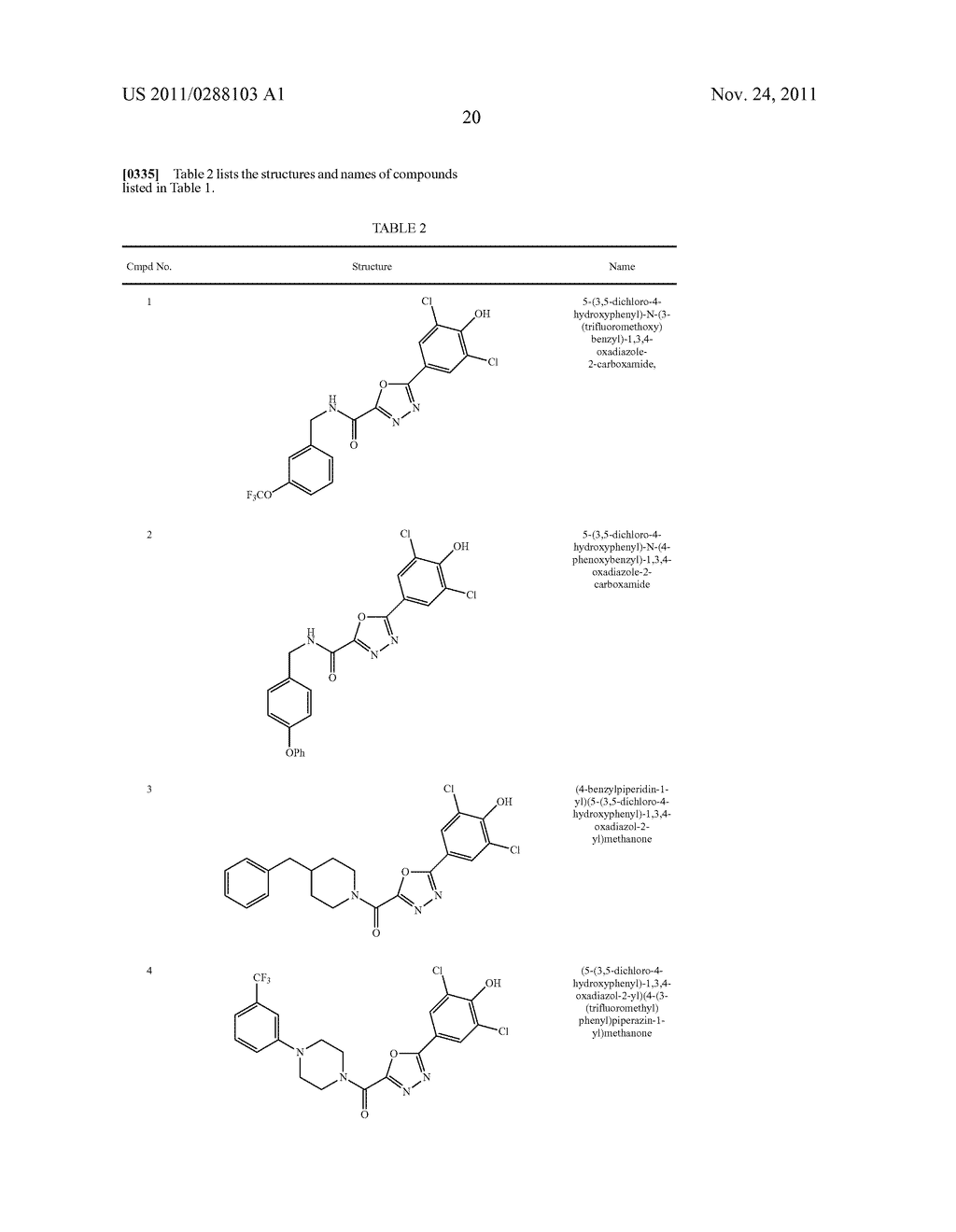 COMPOUNDS, COMPOSITIONS, AND METHODS COMPRISING 1,3,4-OXADIAZOLE     DERIVATIVES - diagram, schematic, and image 23
