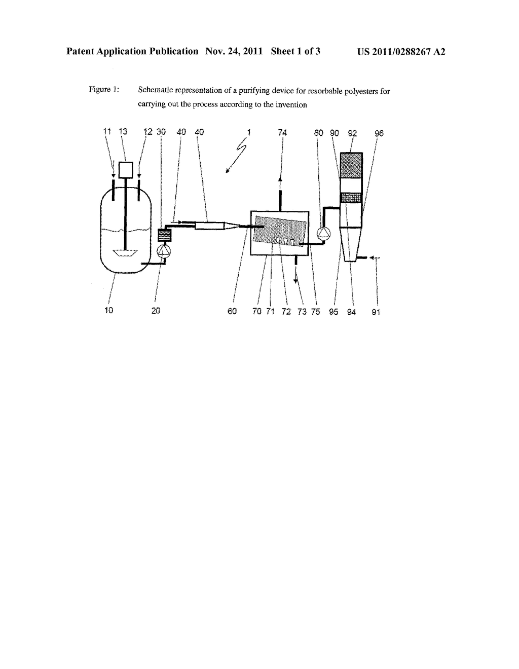 Method and Device for Cleaning an Absorptive Polyester - diagram, schematic, and image 02
