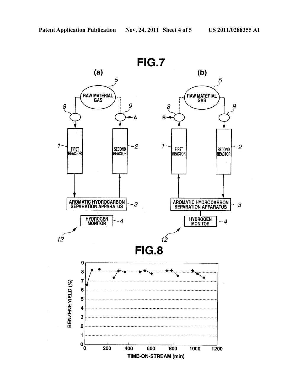 METHOD FOR PRODUCING AROMATIC HYDROCARBON AND APPARATUS FOR PRODUCING     AROMATIC HYDROCARBON - diagram, schematic, and image 05