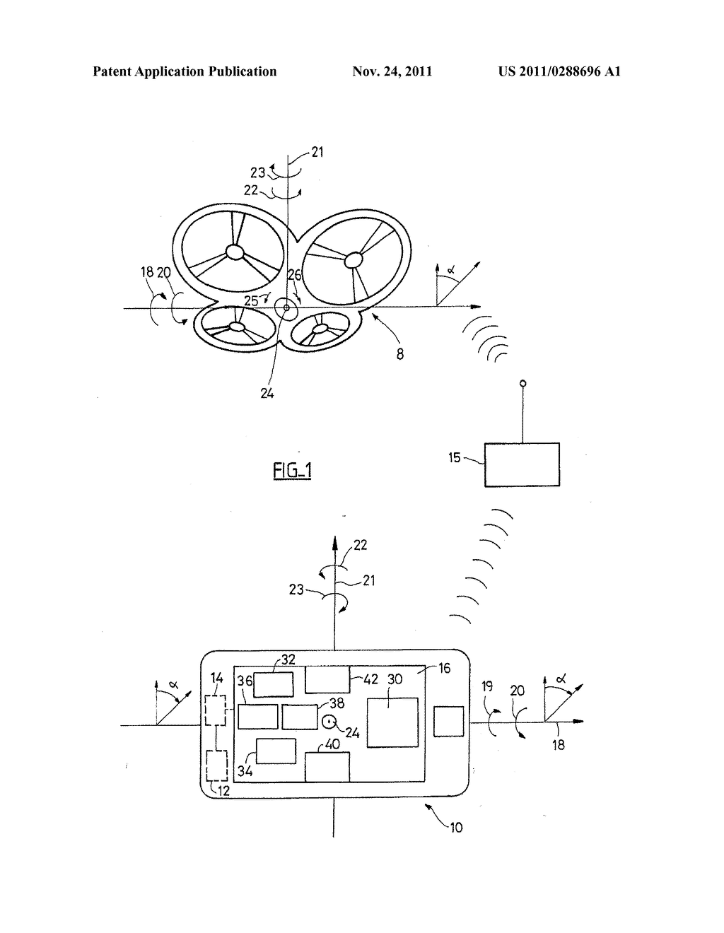 DEVICE FOR PILOTING A DRONE