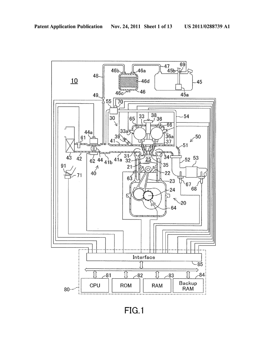 APPARATUS FOR DETERMINING AN AIR-FUEL RATIO IMBALANCE AMONG CYLINDERS OF     AN INTERNAL COMBUSTION ENGINE - diagram, schematic, and image 02
