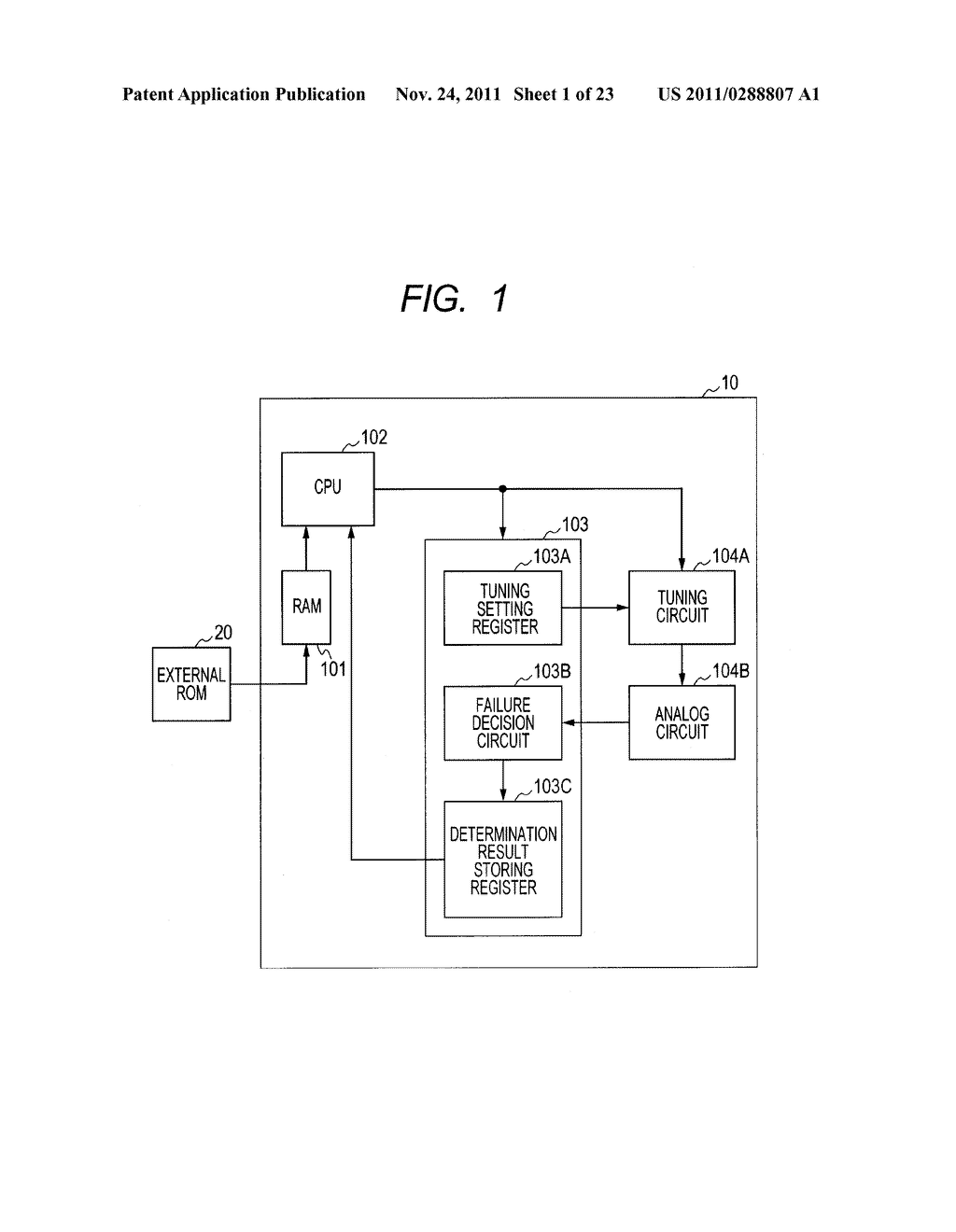 FAILURE DETECTING METHOD, SEMICONDUCTOR DEVICE, AND MICROCOMPUTER     APPLICATION SYSTEM - diagram, schematic, and image 02