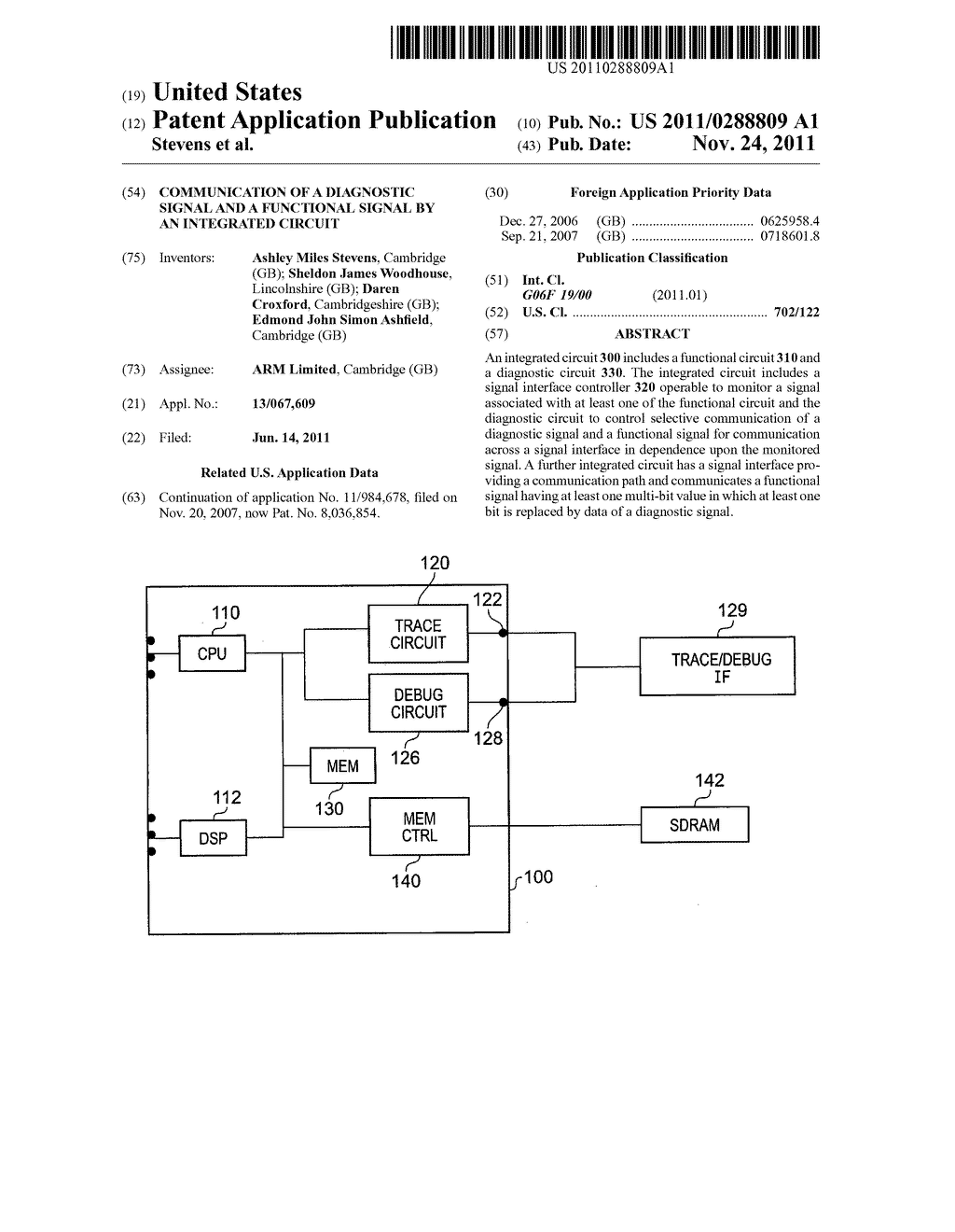 Communication of a diagnostic signal and a functional signal by an     integrated circuit - diagram, schematic, and image 01