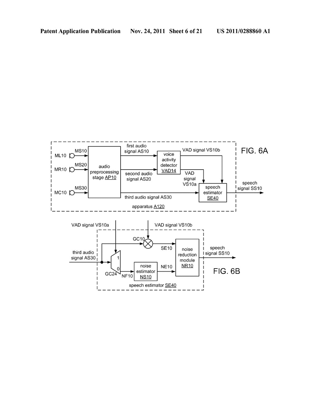 SYSTEMS, METHODS, APPARATUS, AND COMPUTER-READABLE MEDIA FOR PROCESSING OF     SPEECH SIGNALS USING HEAD-MOUNTED MICROPHONE PAIR - diagram, schematic, and image 07