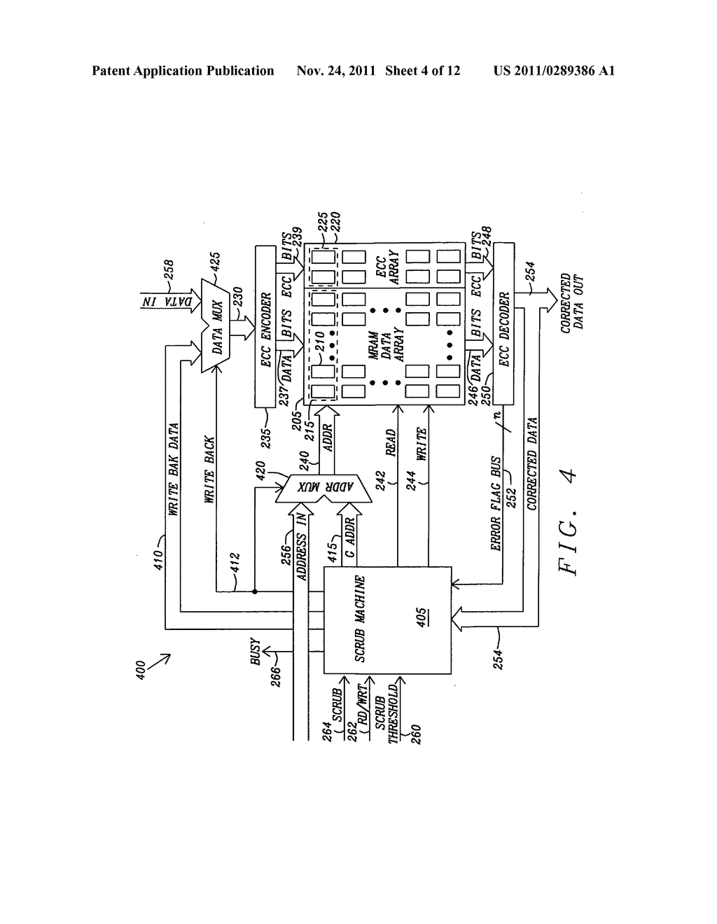 Method and apparatus for scrubbing accumulated data errors from a memory     system - diagram, schematic, and image 05