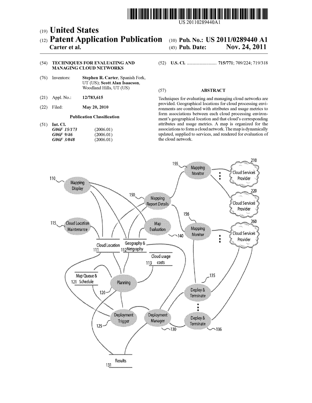 TECHNIQUES FOR EVALUATING AND MANAGING CLOUD NETWORKS - diagram, schematic, and image 01