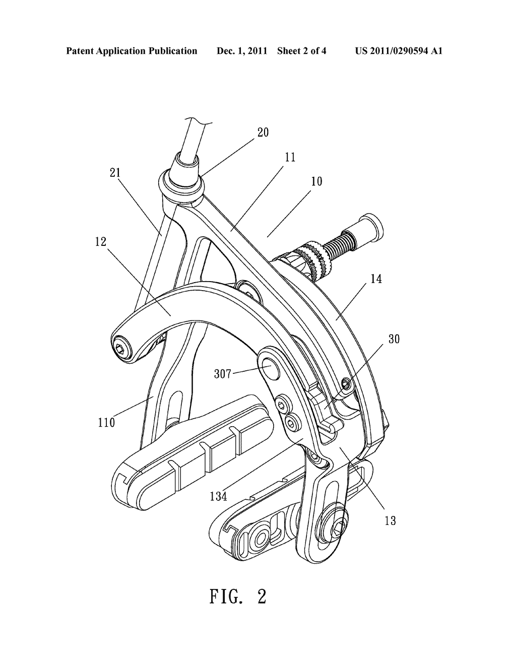 Bicycle Brake With A Mechanism For Quickly Loosening Cable Diagram Of Schematic And Image 03