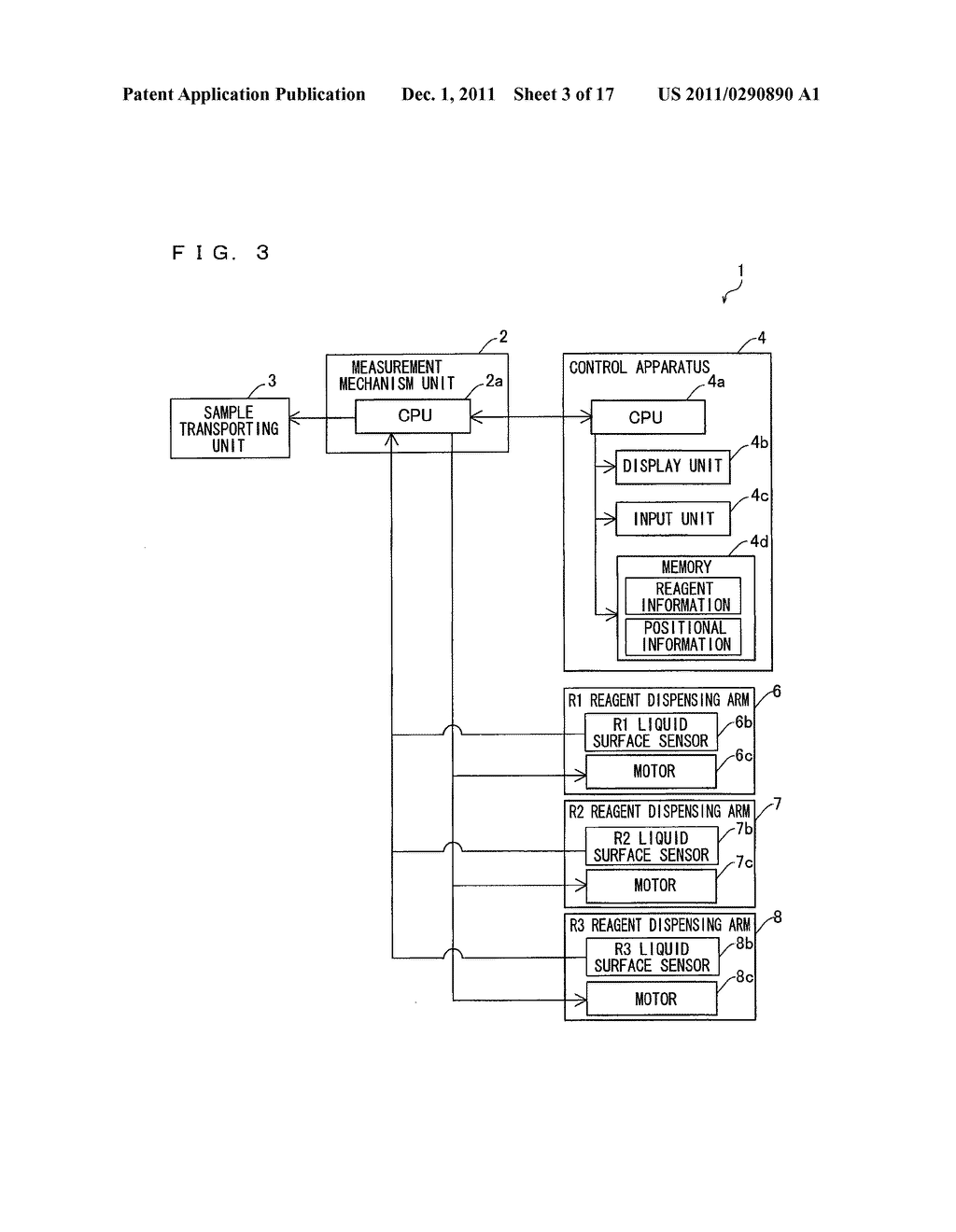 SAMPLE ANALYZER AND REAGENT INFORMATION WRITING METHOD - diagram, schematic, and image 04
