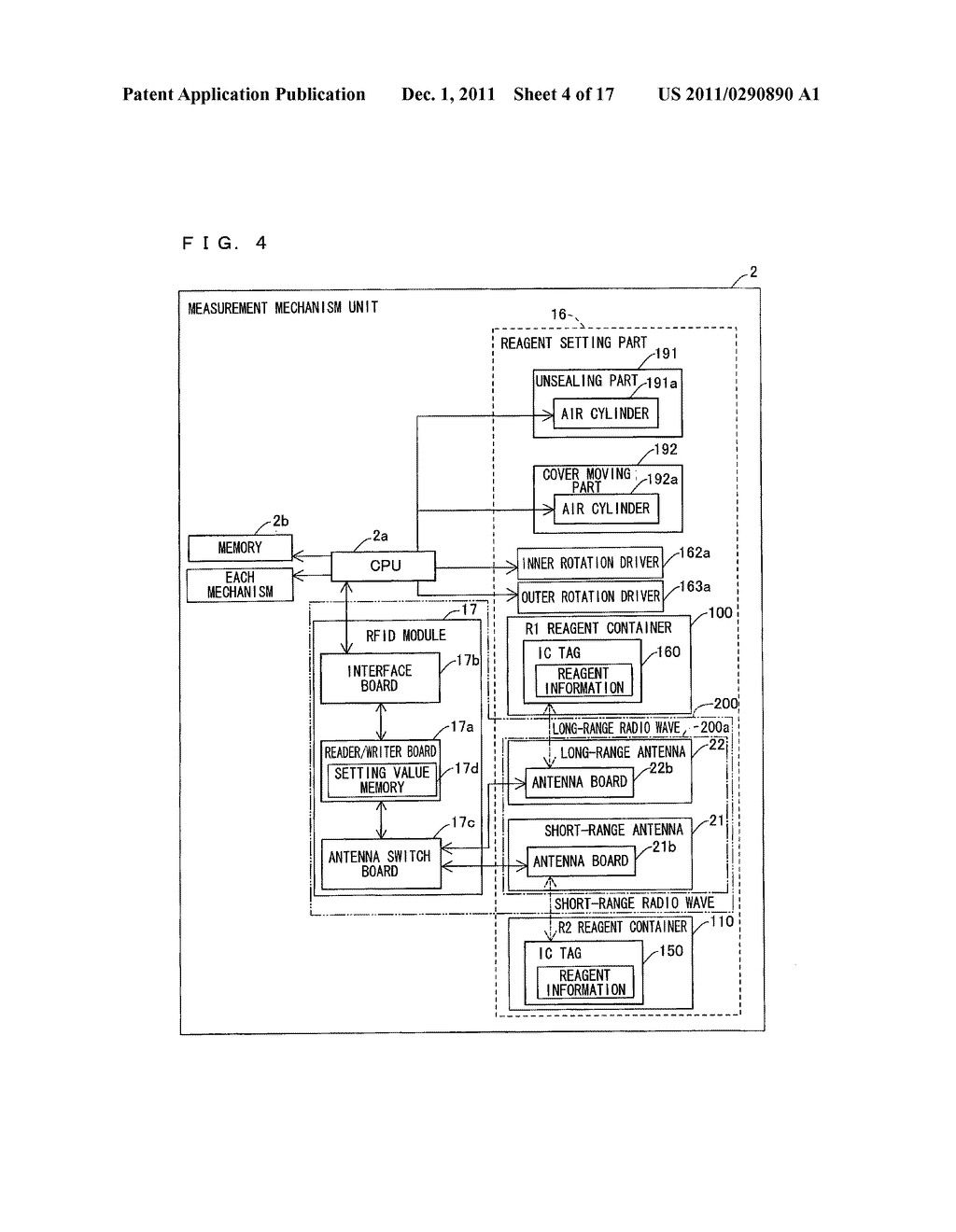 SAMPLE ANALYZER AND REAGENT INFORMATION WRITING METHOD - diagram, schematic, and image 05