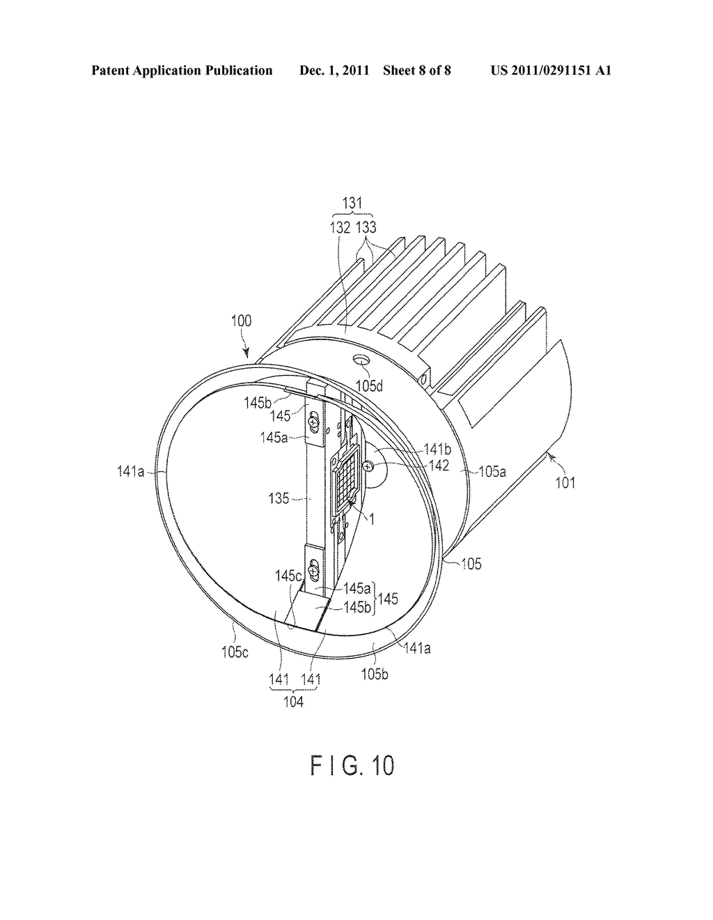 LIGHT EMITTING DEVICE AND LIGHTING APPARATUS - diagram, schematic, and image 09