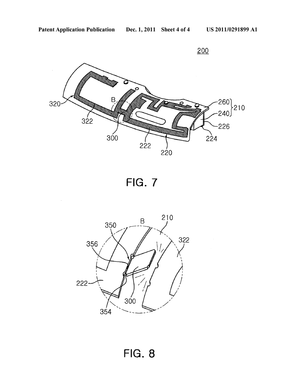ANTENNA RADIATOR, METHOD OF MANUFACTURING ELECTRONIC DEVICE CASE HAVING     PLURALITY OF ANTENNA PATTERN RADIATORS EMBEDDED THEREIN, AND ELECTRONIC     DEVICE CASE - diagram, schematic, and image 05