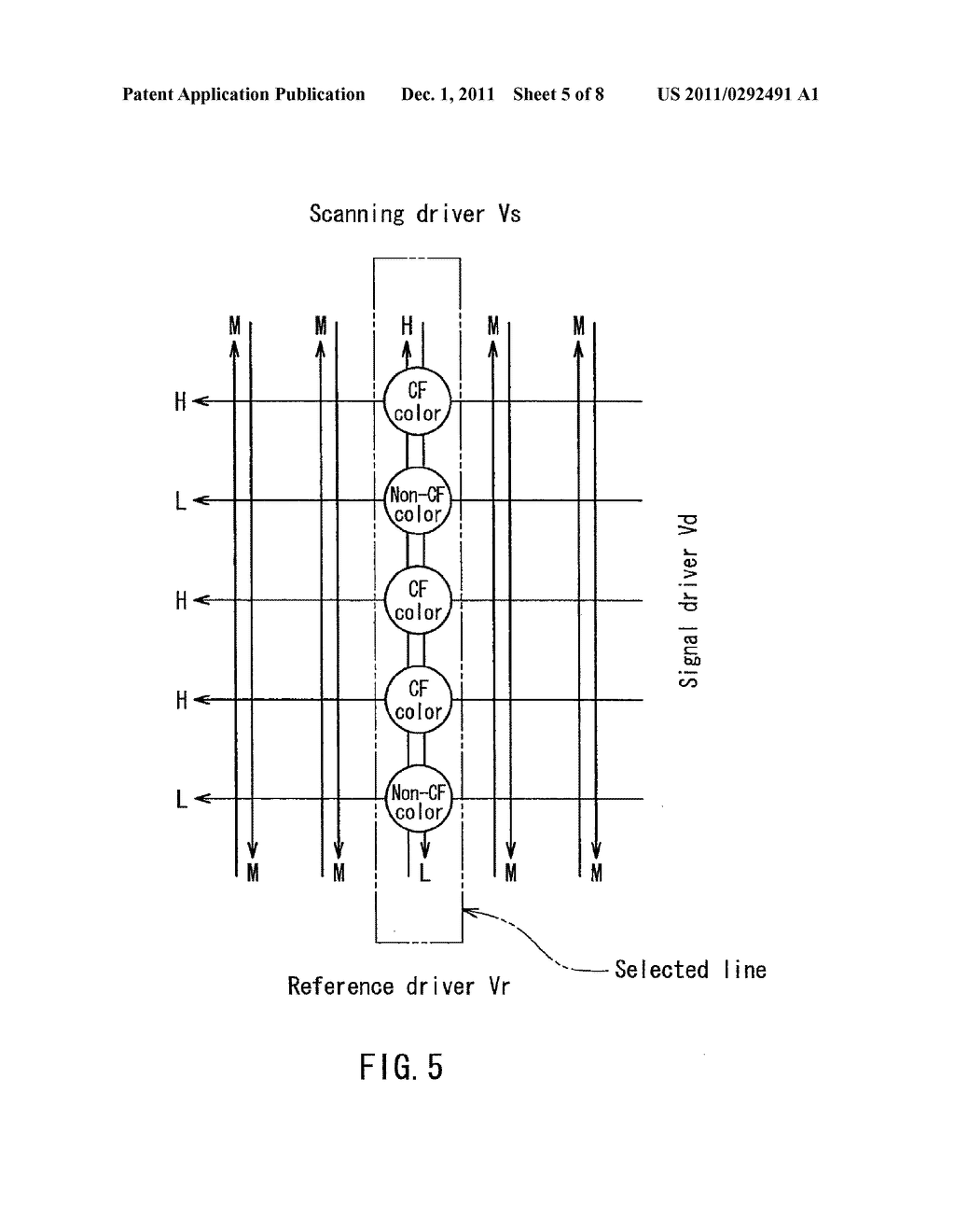 DISPLAY DEVICE AND ELECTRIC APPARATUS USING THE SAME - diagram, schematic, and image 06