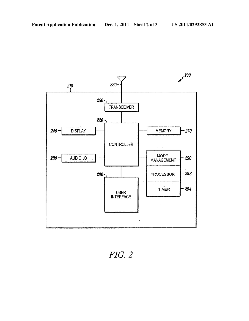METHOD AND DEVICE FOR REDUCING POWER DRAIN WHILE CAMPED ON A WIRELESS     LOCAL AREA NETWORK - diagram, schematic, and image 03