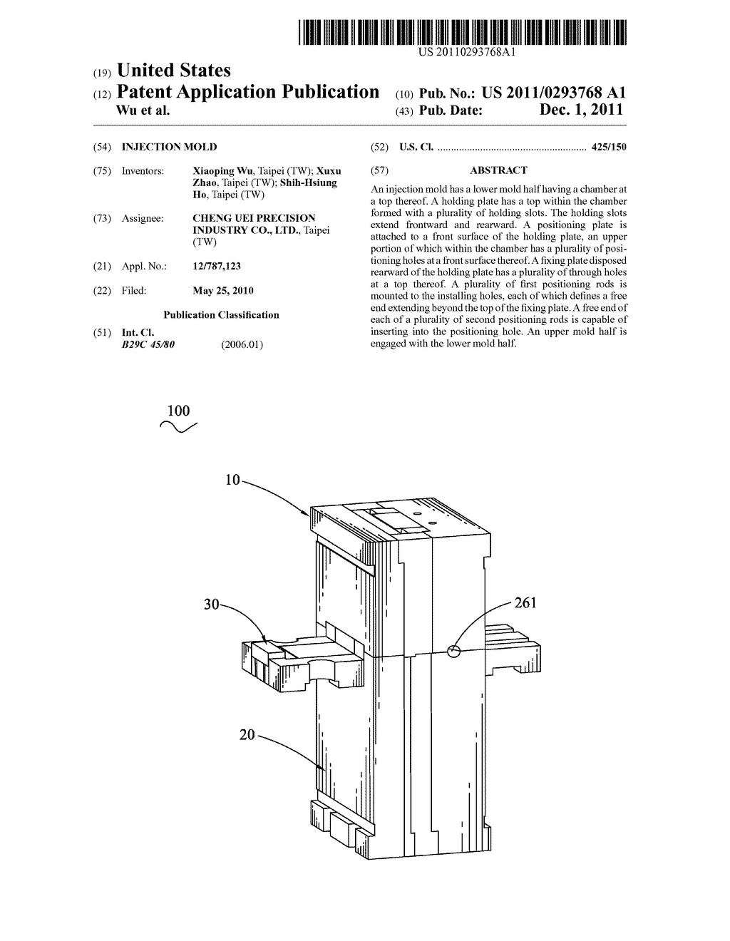 Injection Mold - diagram, schematic, and image 01