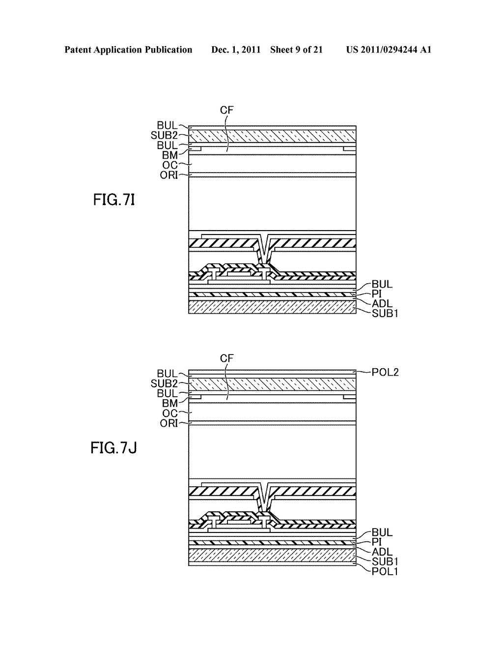 METHOD FOR MANUFACTURING DISPLAY DEVICE - diagram, schematic, and image 10