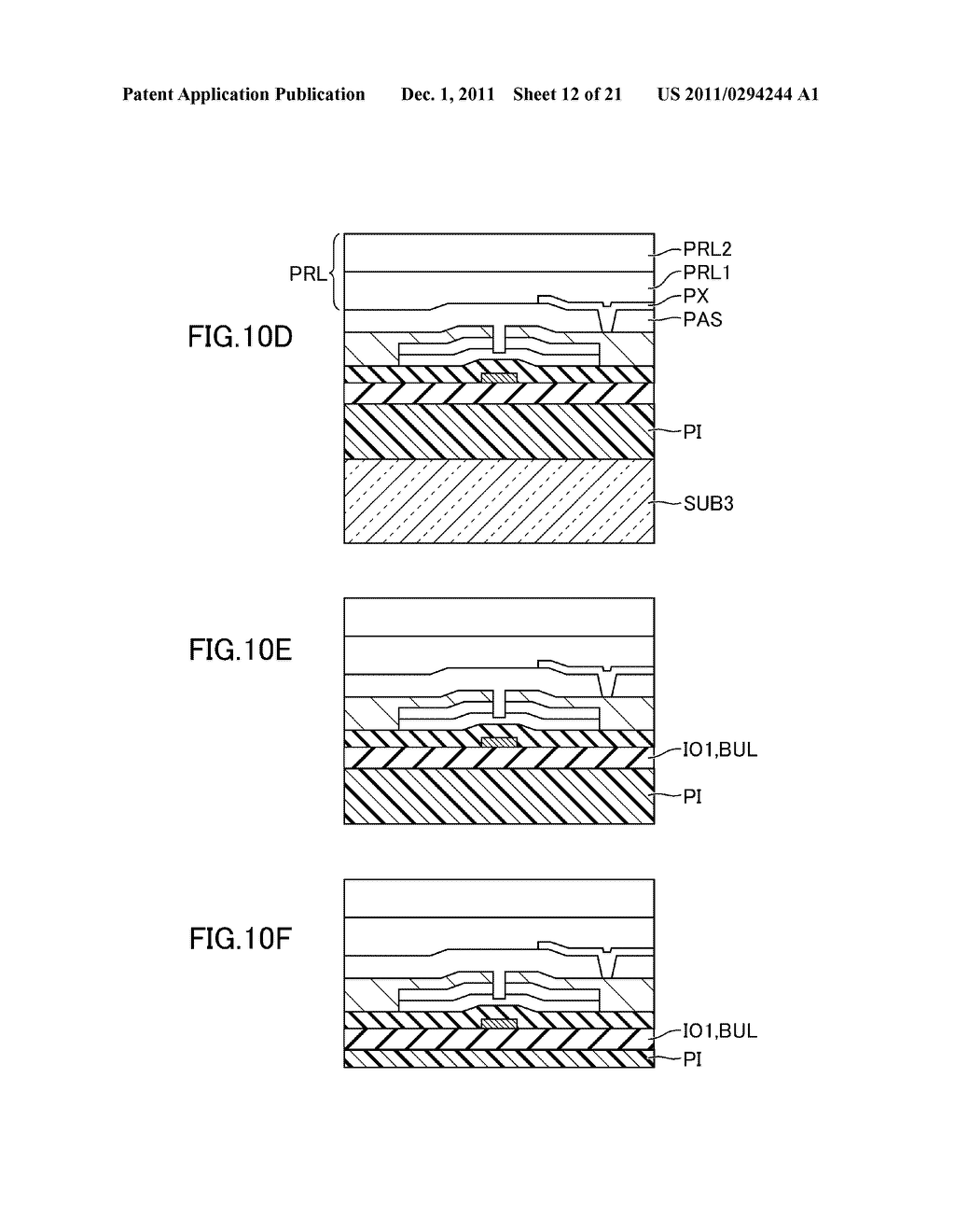 METHOD FOR MANUFACTURING DISPLAY DEVICE - diagram, schematic, and image 13